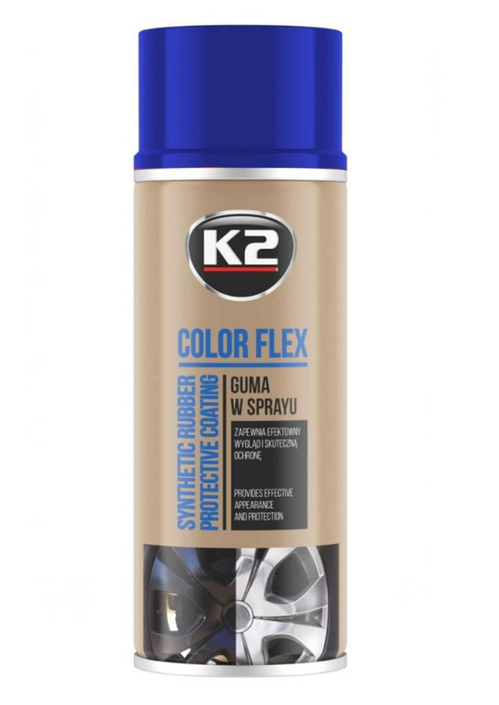 K2 Color Flex Niebieski 400ml Guma w Sprayu