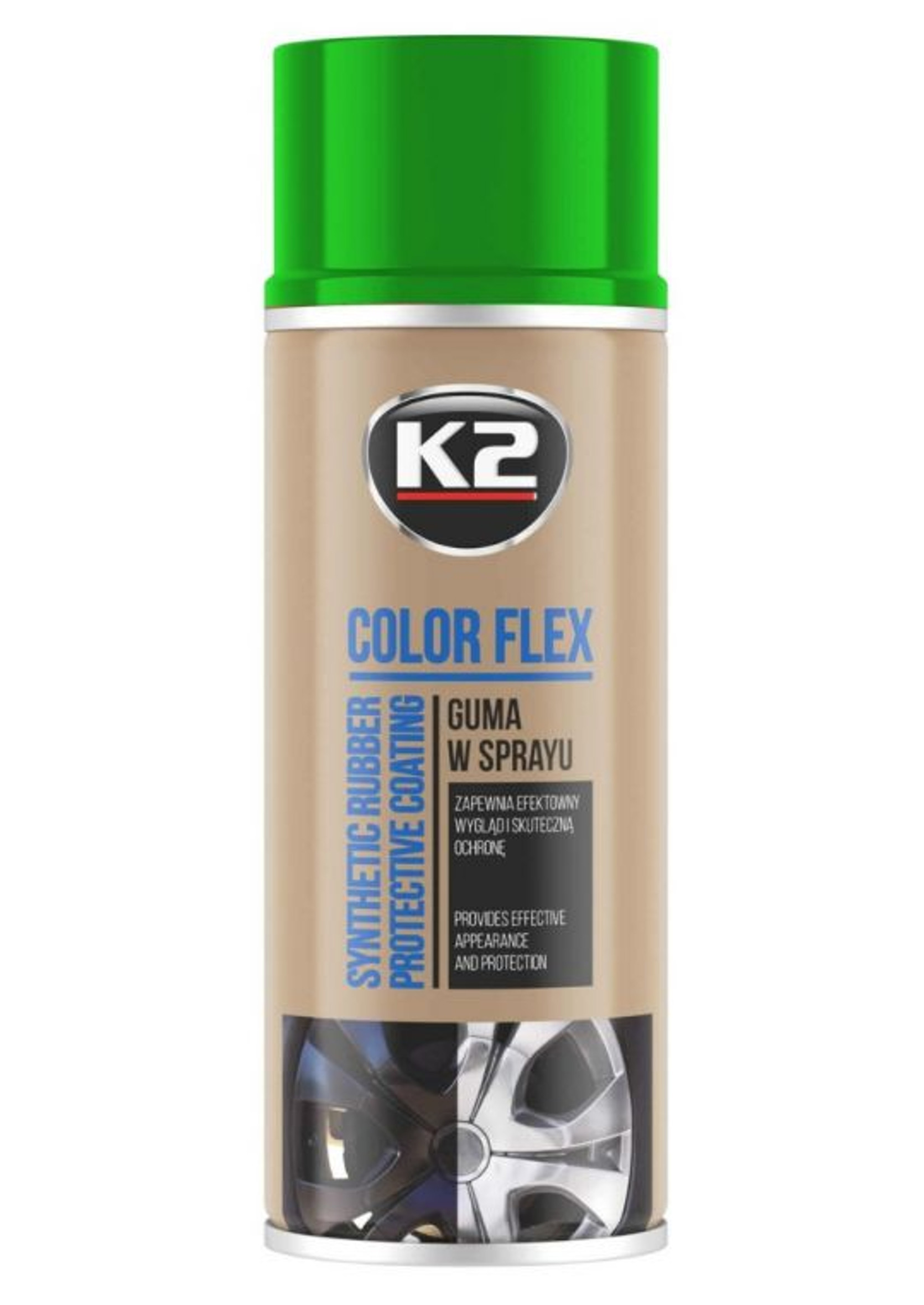 K2 Color Flex Zielony 400ml Guma w Sprayu