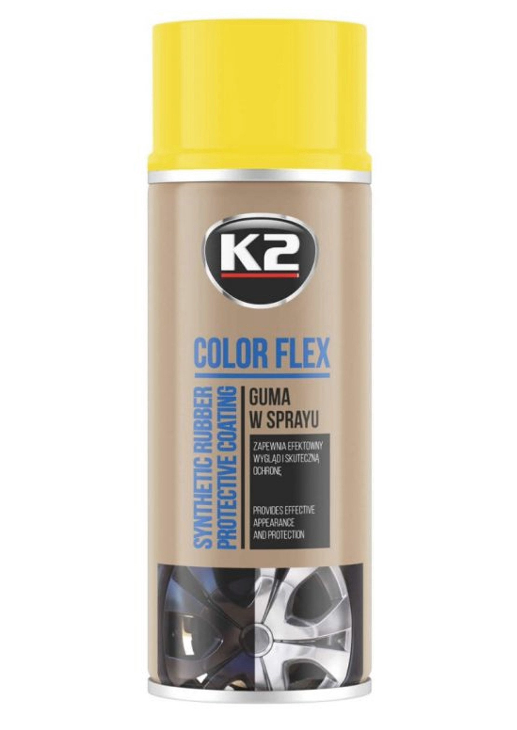 K2 Color Flex Żółty 400ml Guma w Sprayu