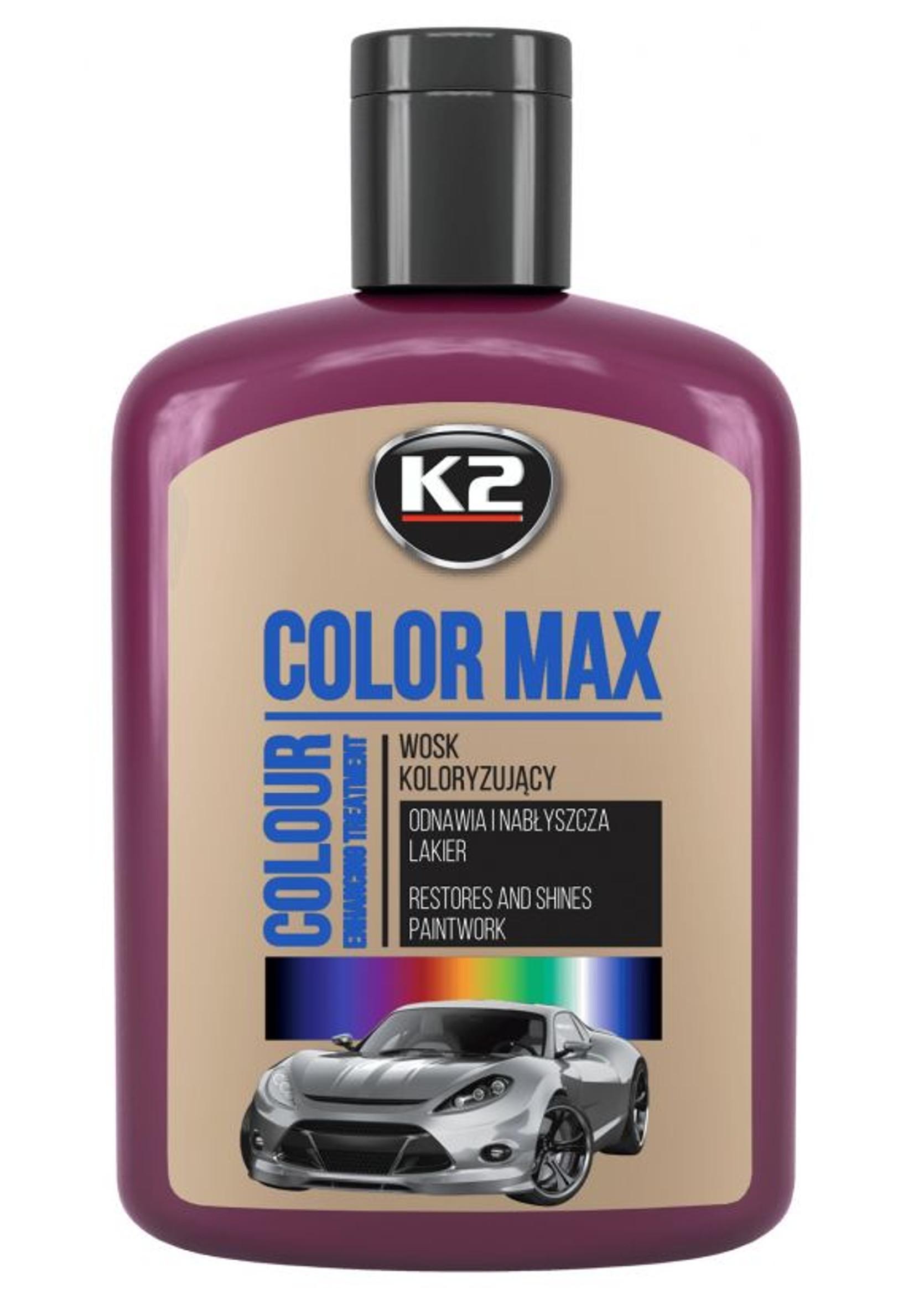K2 Color Max 200ml Bordowy Wosk Koloryzujący do Lakieru