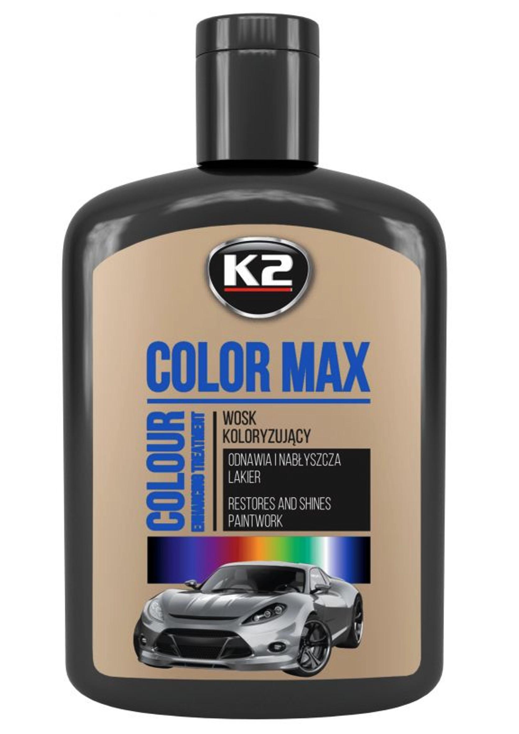 K2 Color Max 200ml Czarny Wosk Koloryzujący do Lakieru