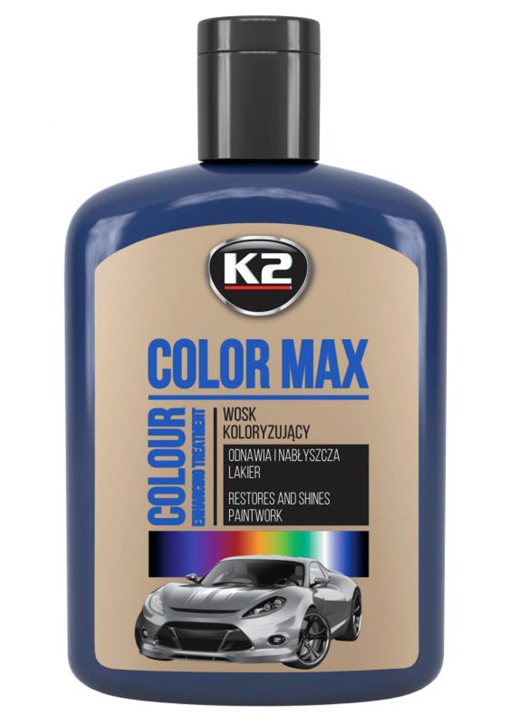 K2 Color Max 200ml Granatowy Wosk Koloryzujący do Lakieru