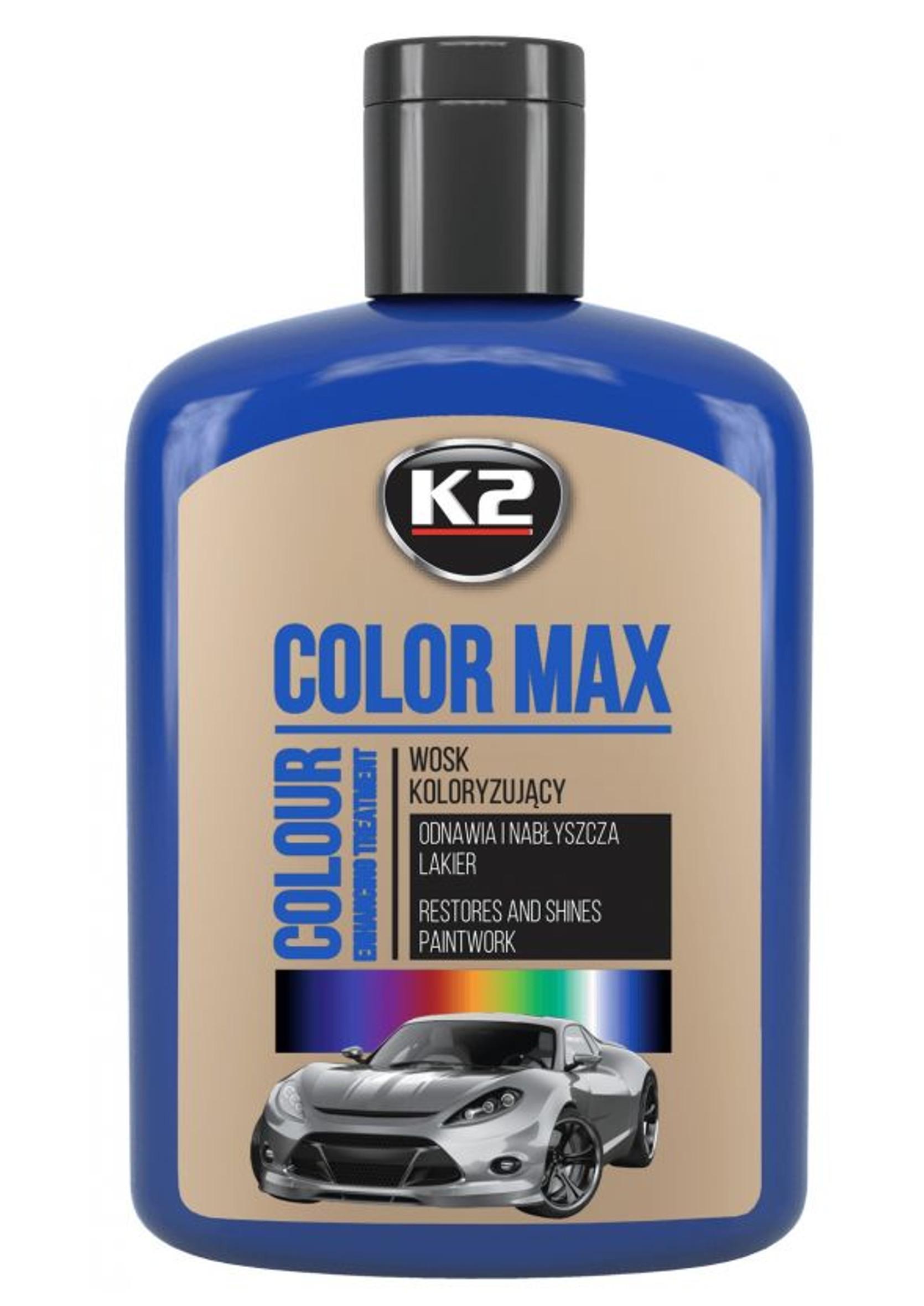 K2 Color Max 200ml Niebieski Wosk Koloryzujący do Lakieru