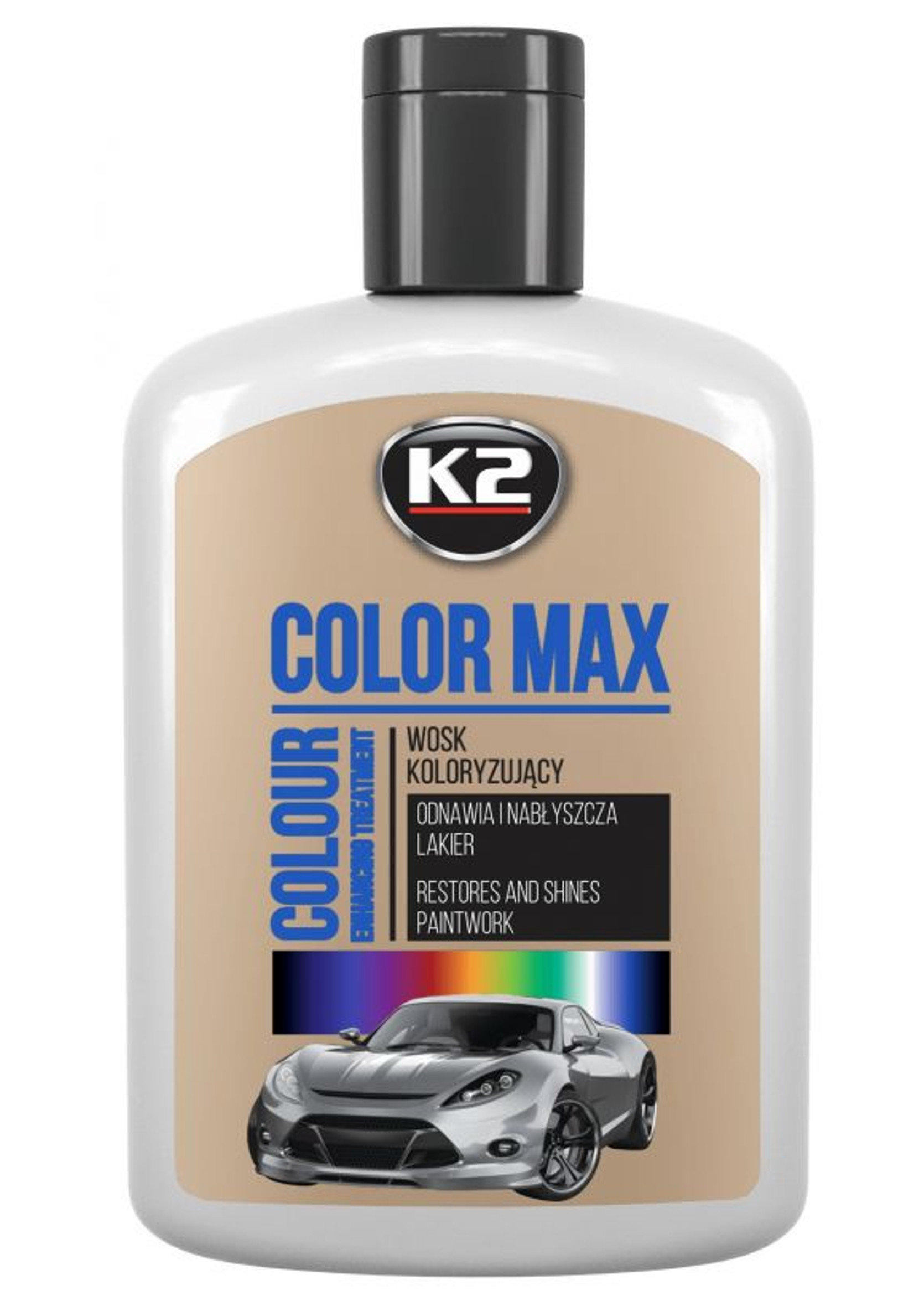 K2 Color Max 200ml Srebrny Wosk Koloryzujący do Lakieru