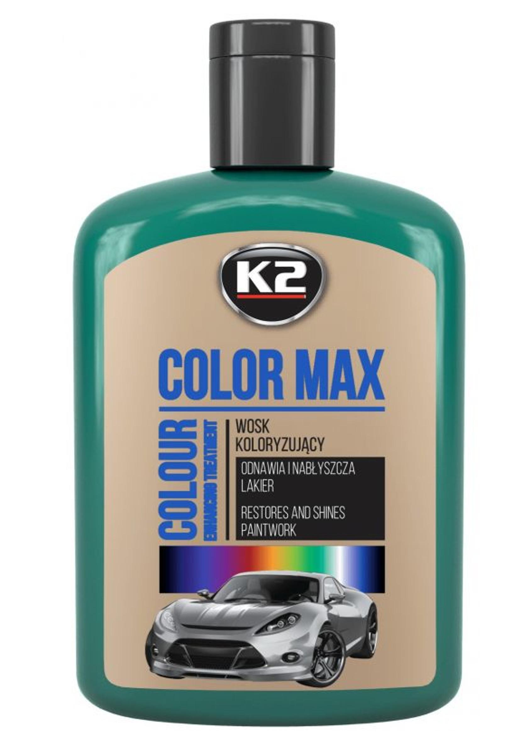 K2 Color Max 200ml Zielony Wosk Koloryzujący do Lakieru