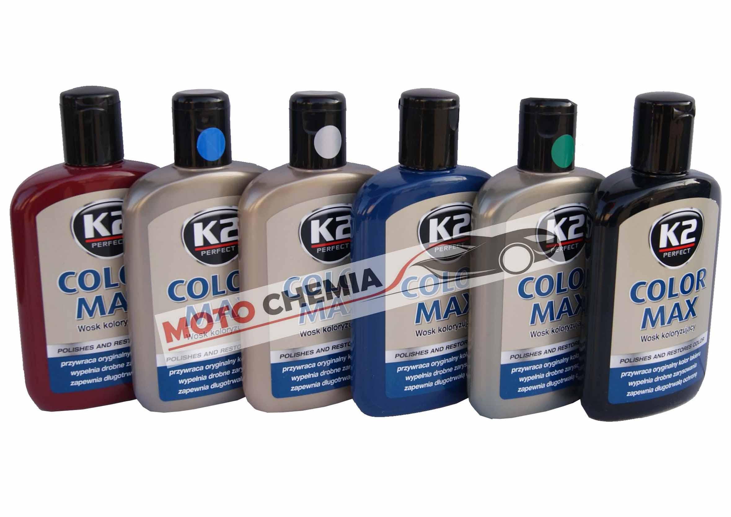 K2 Color Max wosk koloryzujący do samochodu Bordowy 200ml
