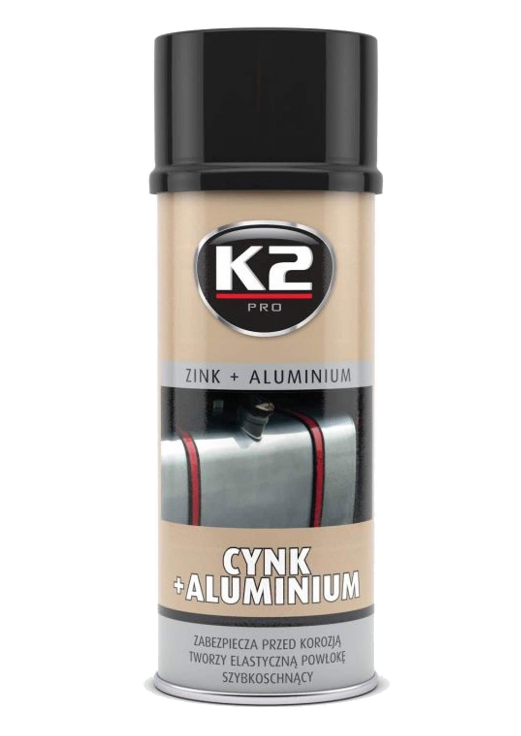 K2 Cynk z Aluminium w Sprayu 400ml Preparat Antykorozyjny