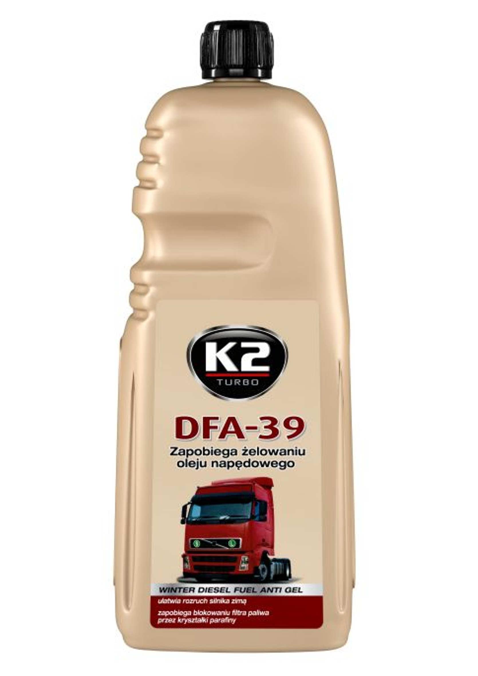 K2 DFA -39C 1L Depresator Dodatek do Diesla Przeciw Żelowaniu ON