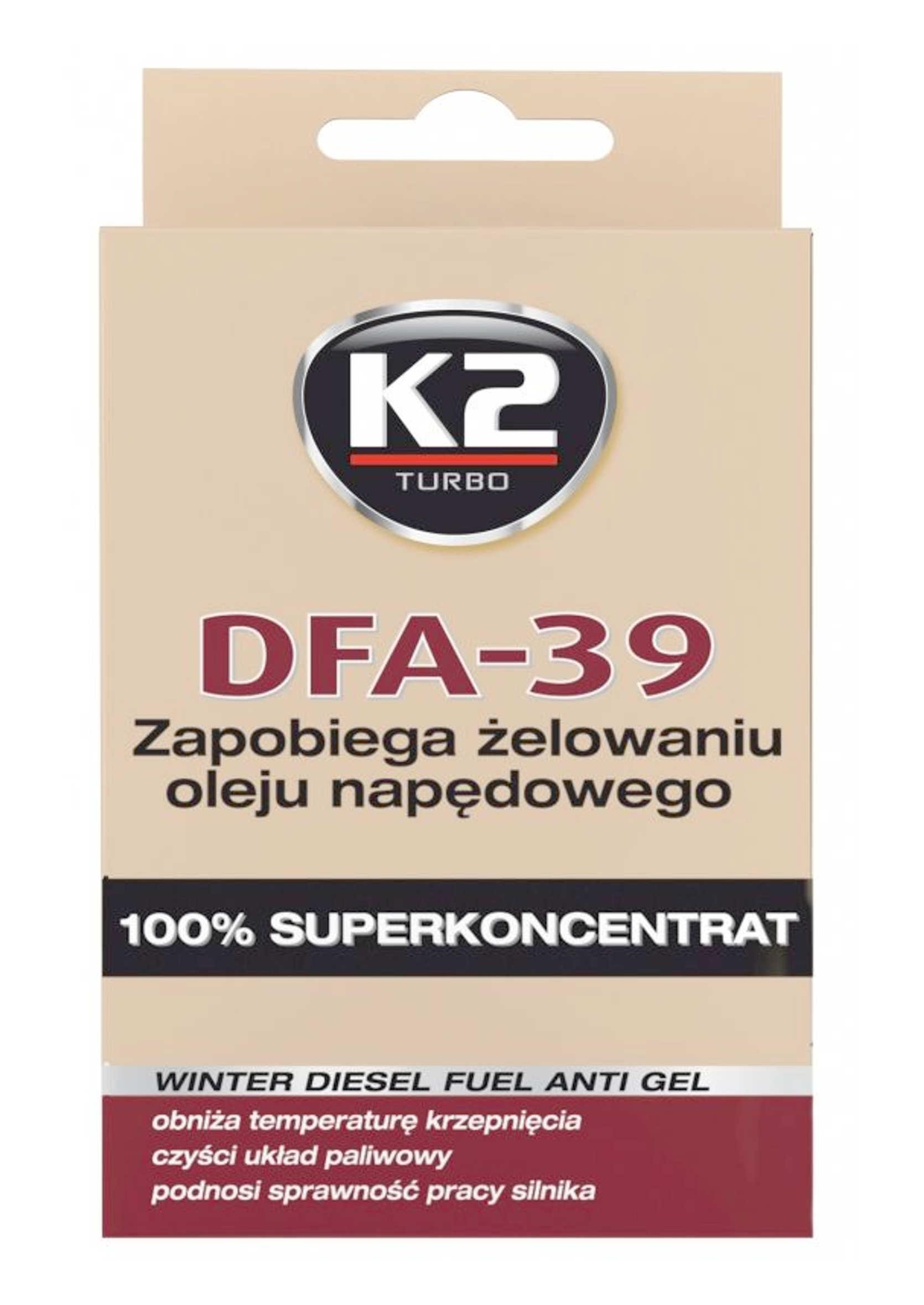 K2 DFA -39C 50ml Depresator Dodatek do Diesla Przeciw Żelowaniu ON