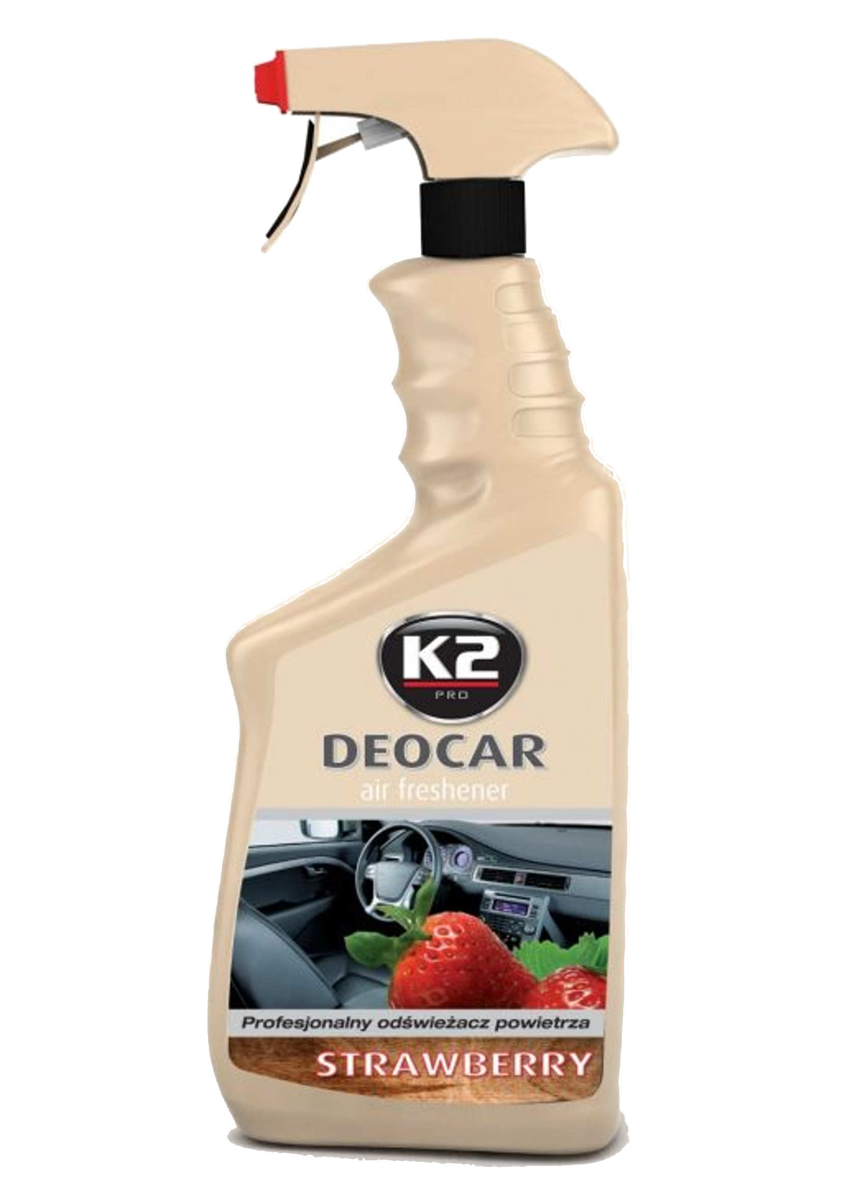 K2 Deocar Strawberry 700ml Odświeżacz Powietrza w Atomizerze