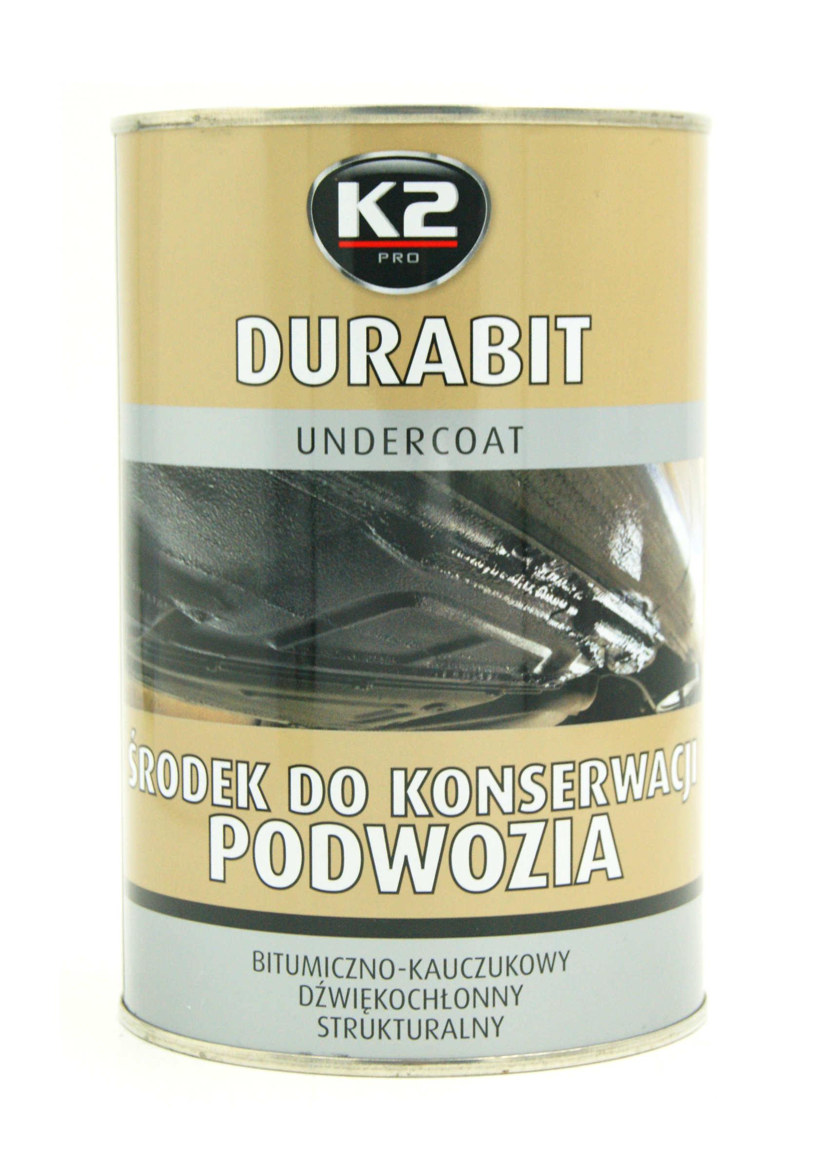 K2 Durabit 1L Bitumiczny Środek do Konserwacji Podwozia na Pędzel