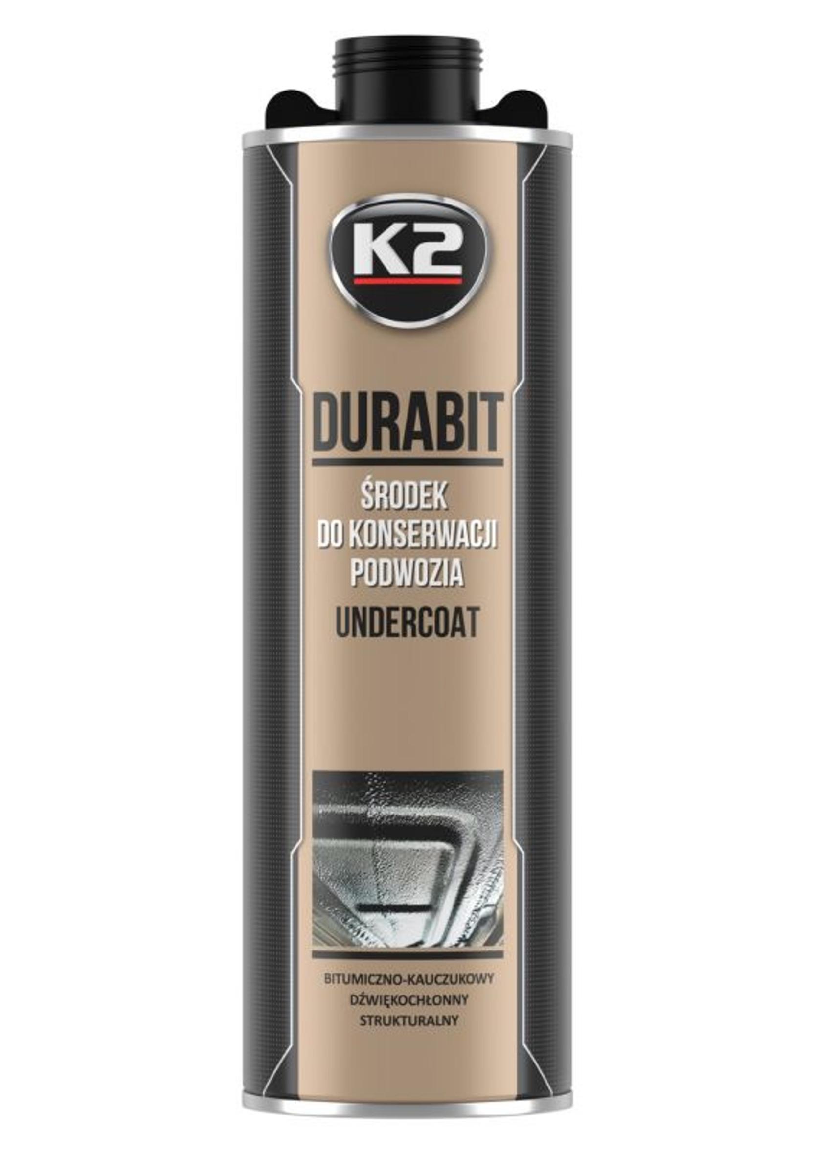 K2 Durabit 1L Bitumiczny Środek do Konserwacji Podwozia na Pistolet
