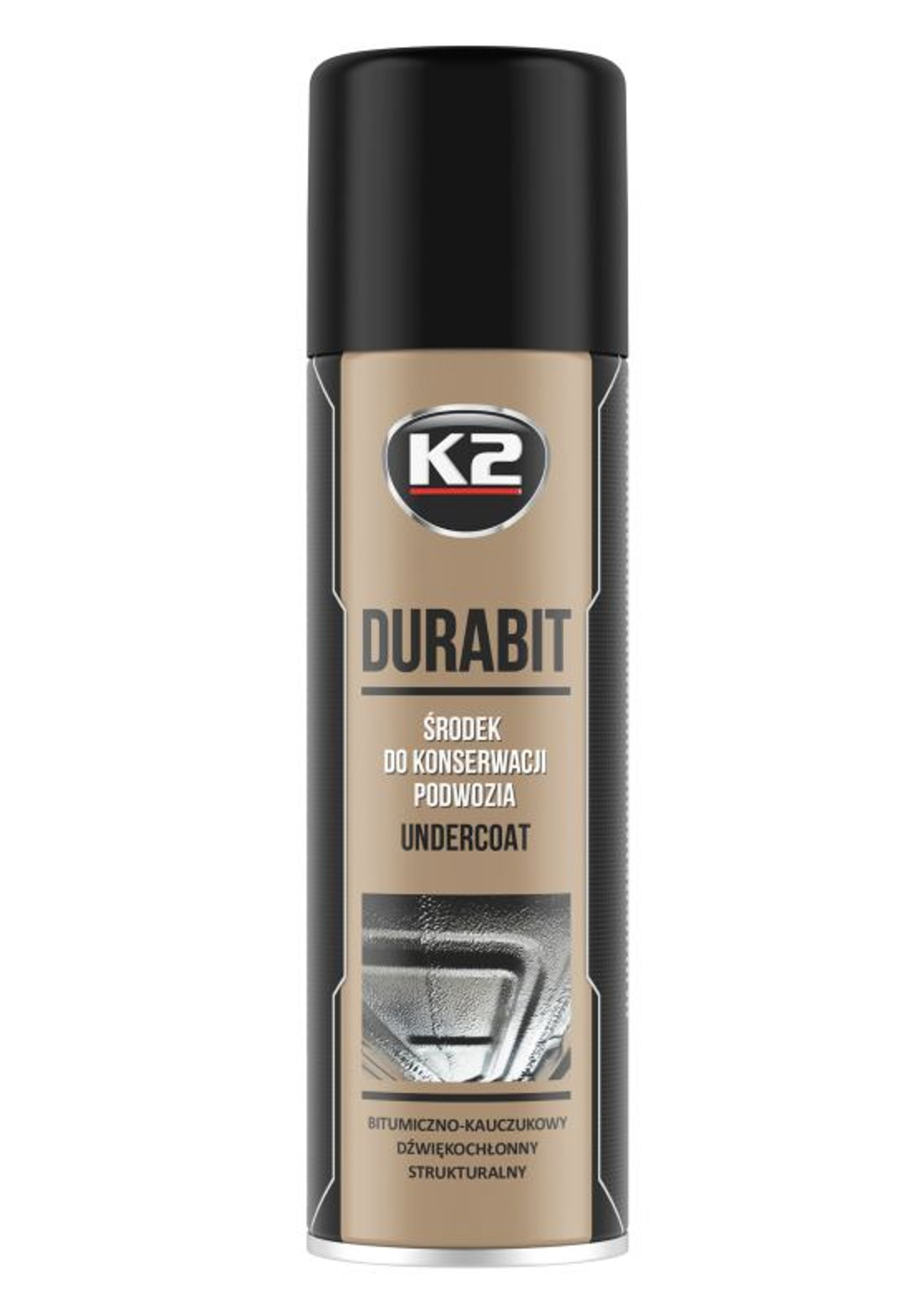 K2 Durabit 500ml Bitumiczny Środek do Konserwacji Podwozia w Sprayu