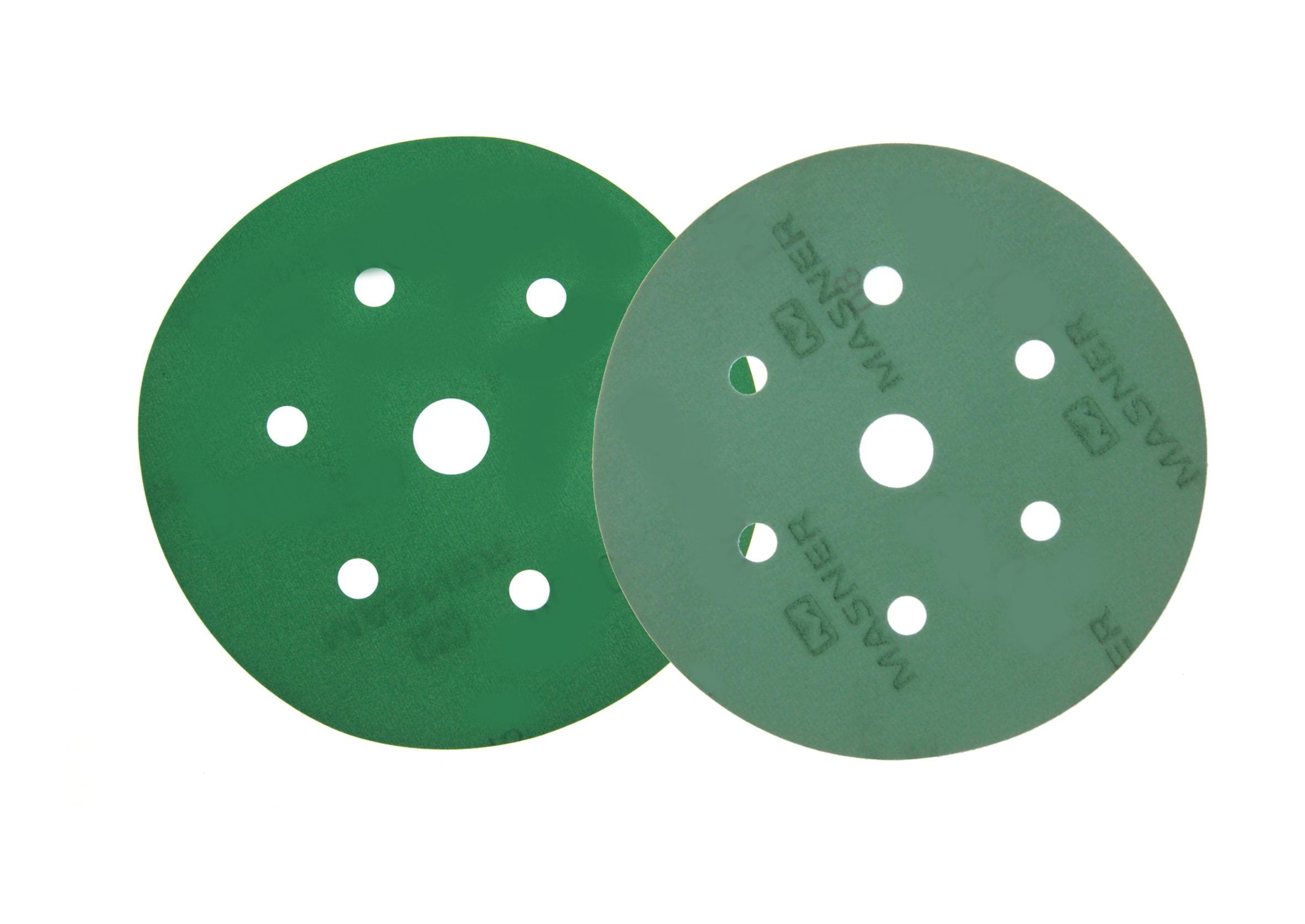 K2 Krążek ścierny 150mm gradacja 100 otwory 6+1 krążki ścierne na folii na rzep