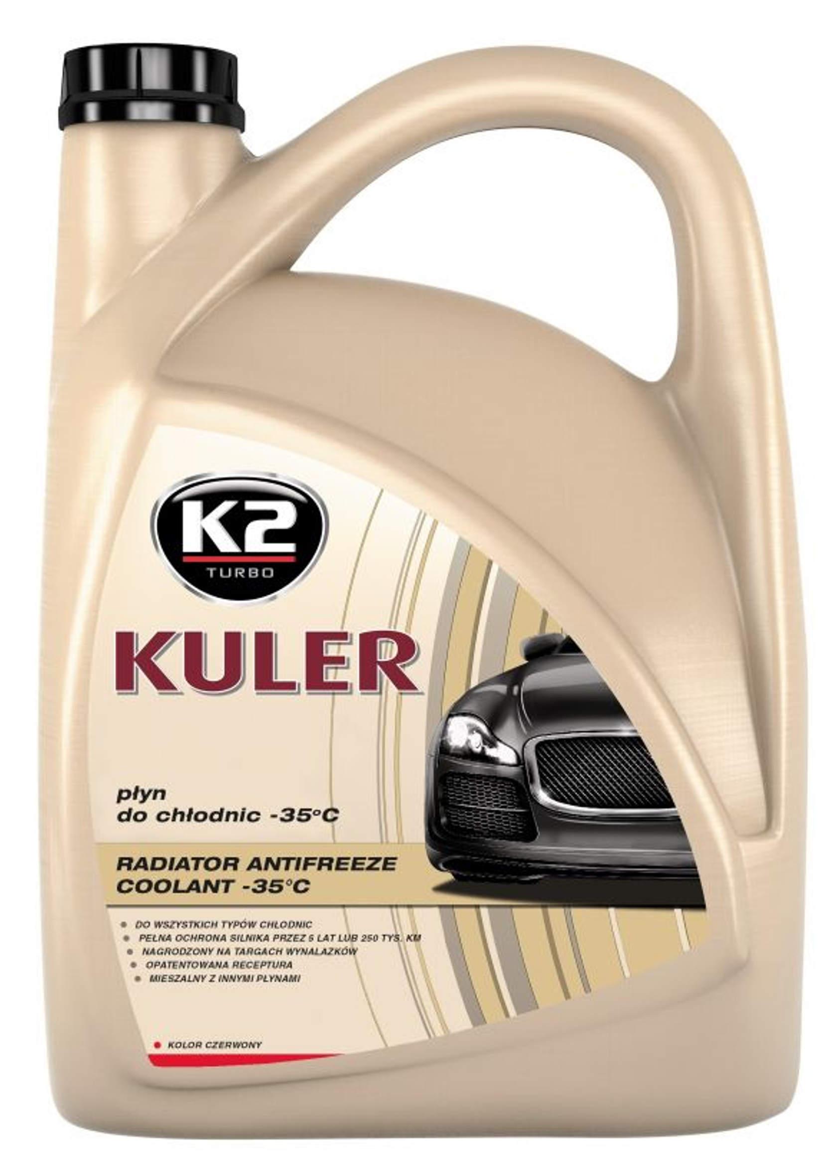 K2 Kuler 5L Czerwony płyn do chłodnic G12 samochodowych Różowy -35C