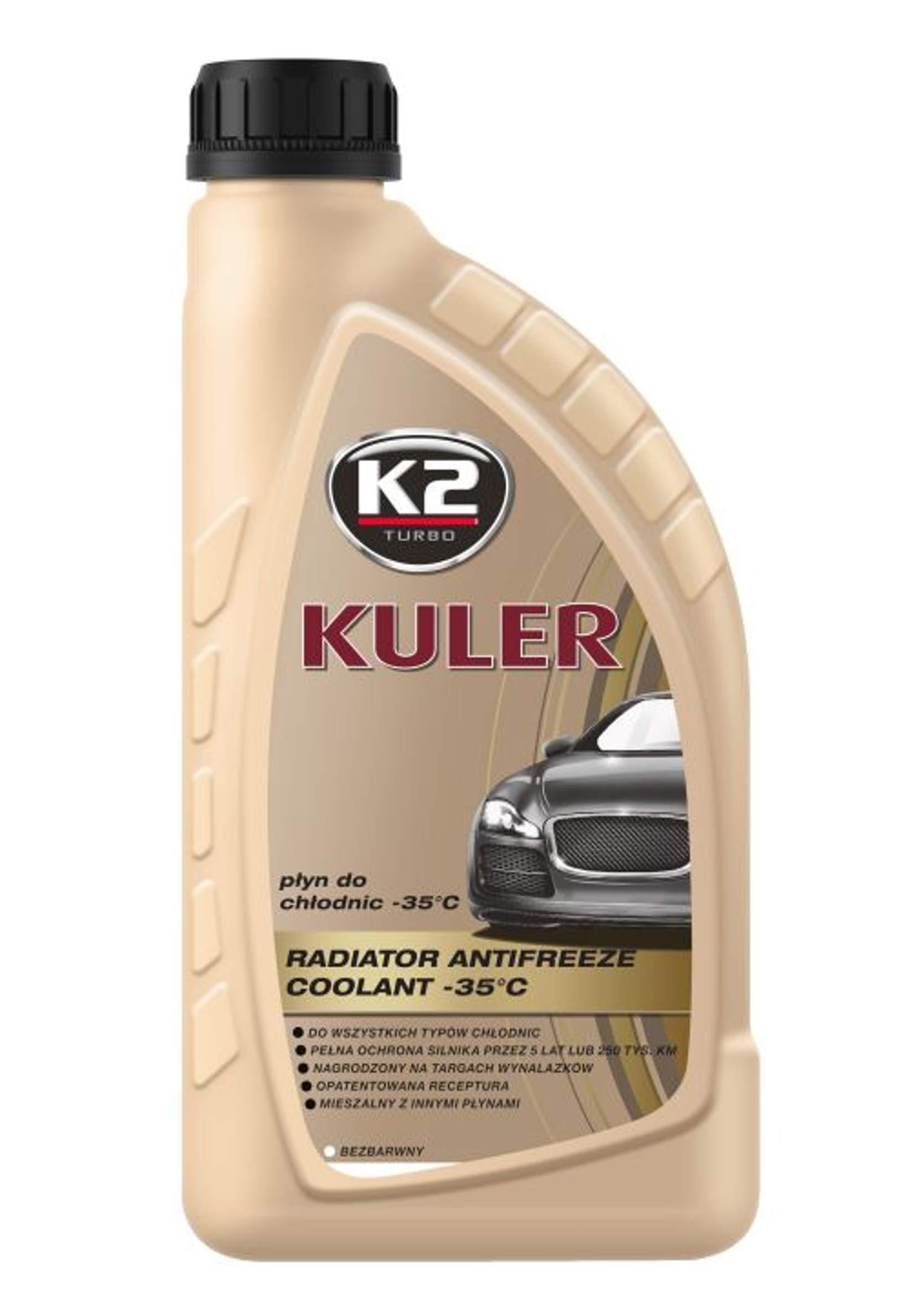 K2 Kuler 1L Bezbarwny Płyn do chłodnic samochodowych -35C