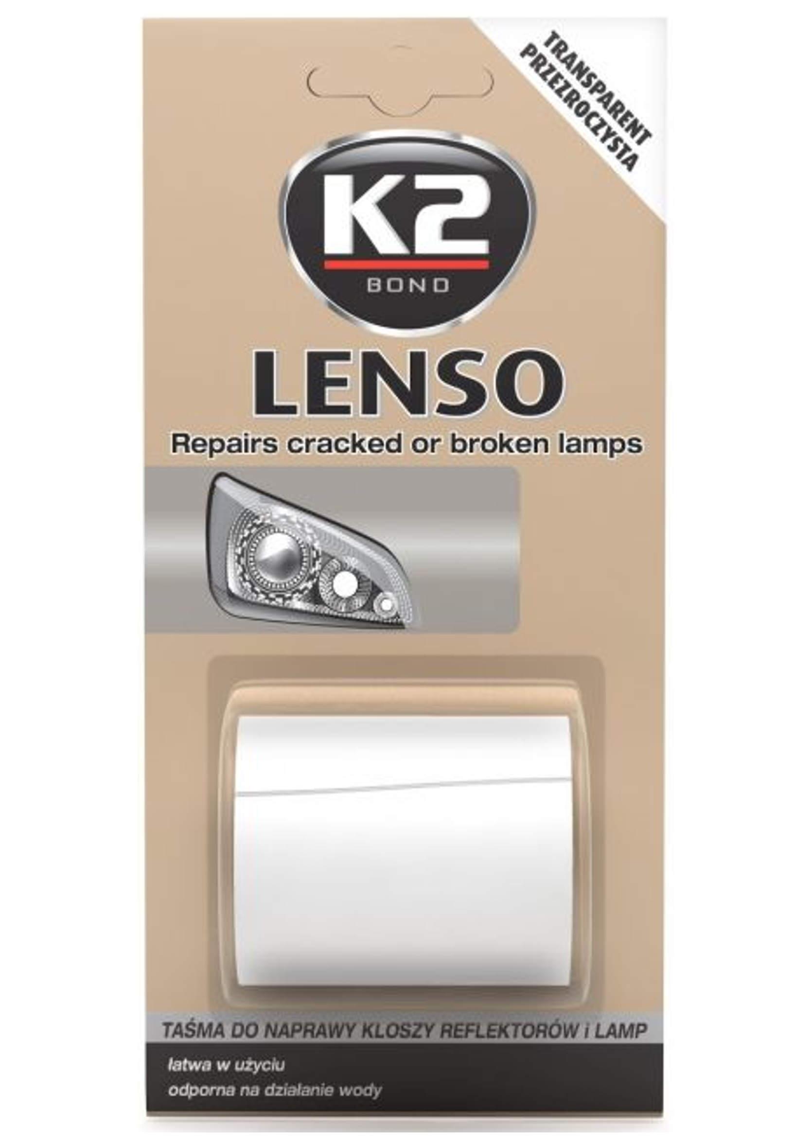 K2 Lenso Przezroczysta 1,5m Taśma do Naprawy Pękniętych Reflektorów i Lamp Tylnych