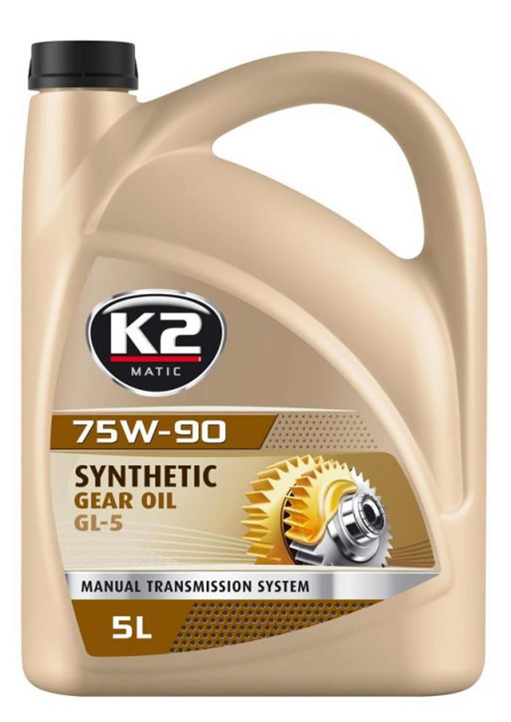 Olej Przekładniowy K2 75W90 Syntetyczny 5L