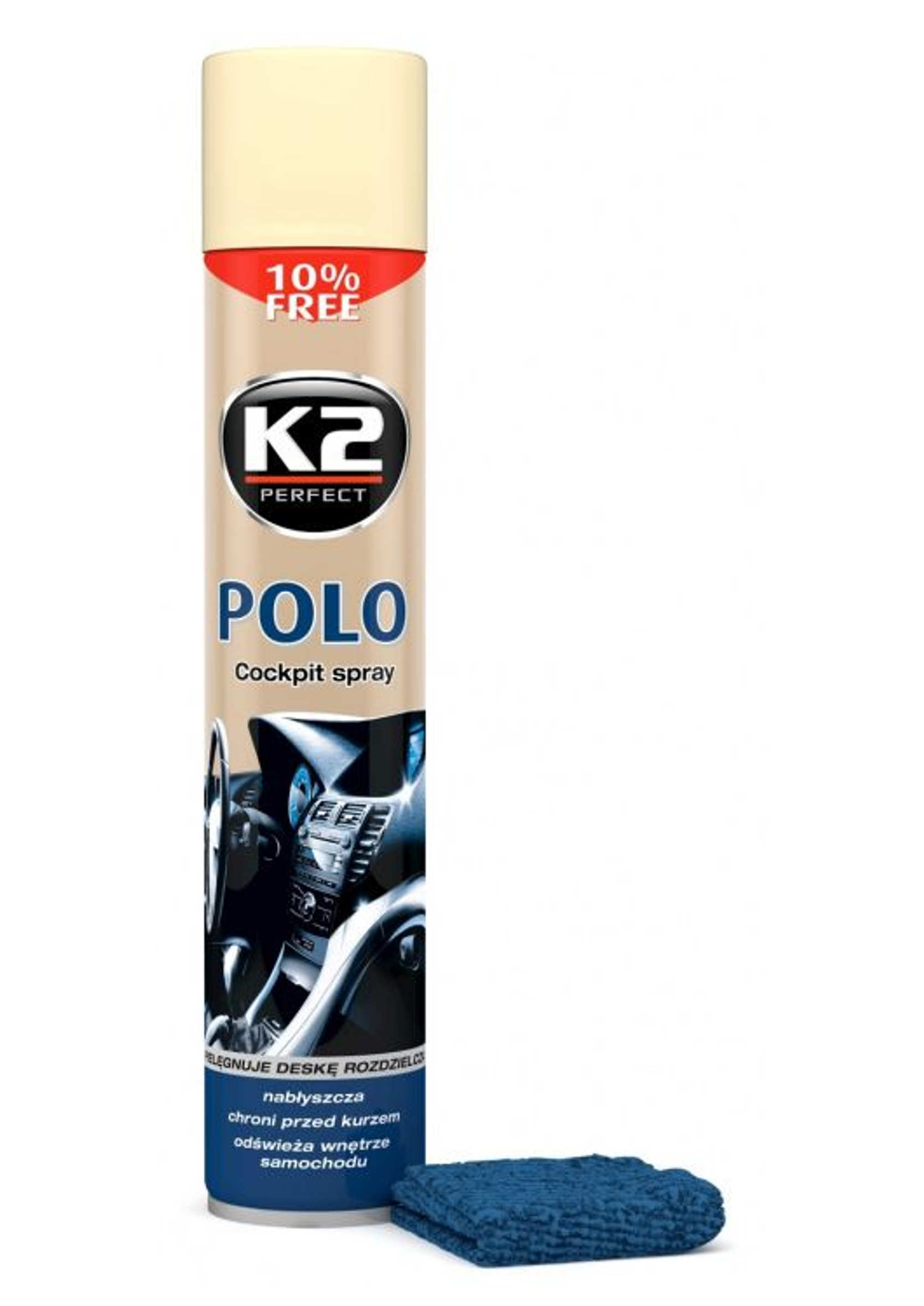 Środek do nabłyszczania i konserwacji kokpitu Wanilia K2 Polo 750ml