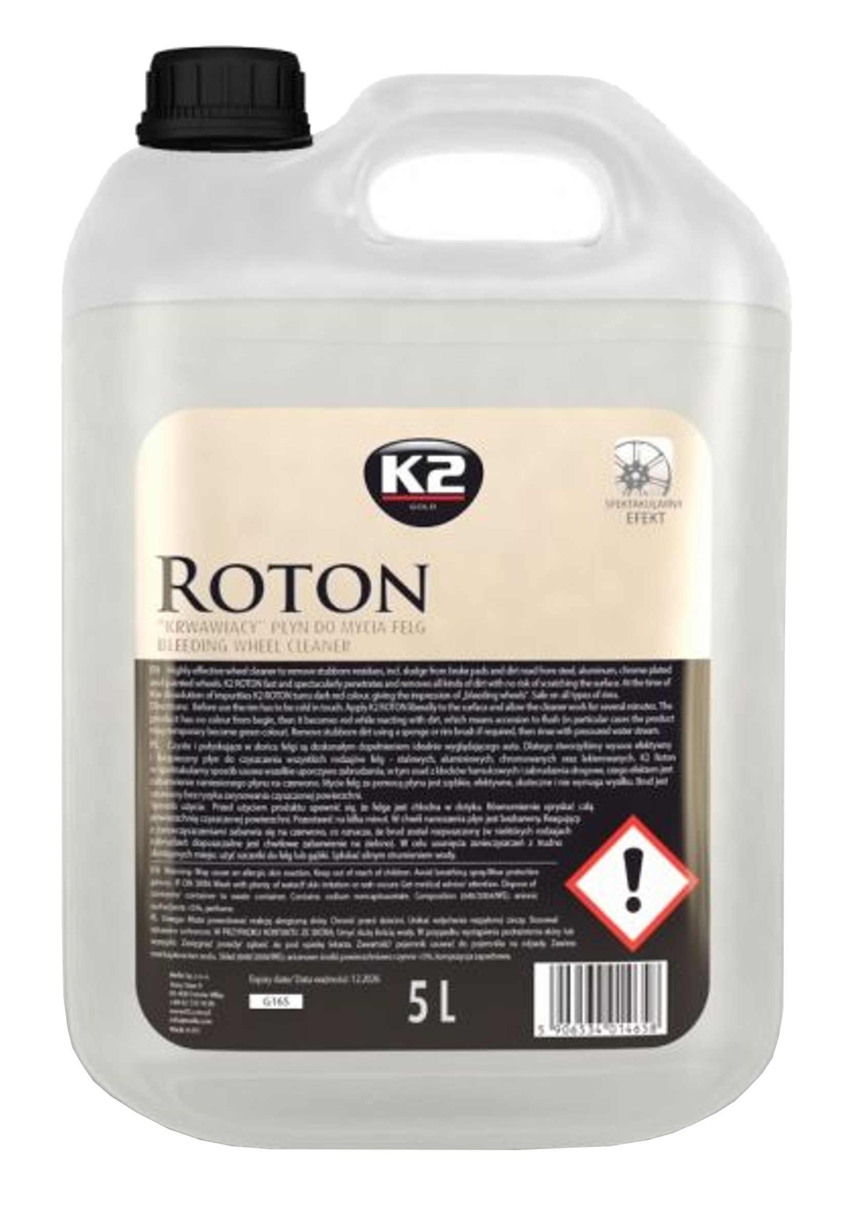 Płyn do Czyszczenia Felg i Kołpaków K2 Roton Wheel Cleaner 5L