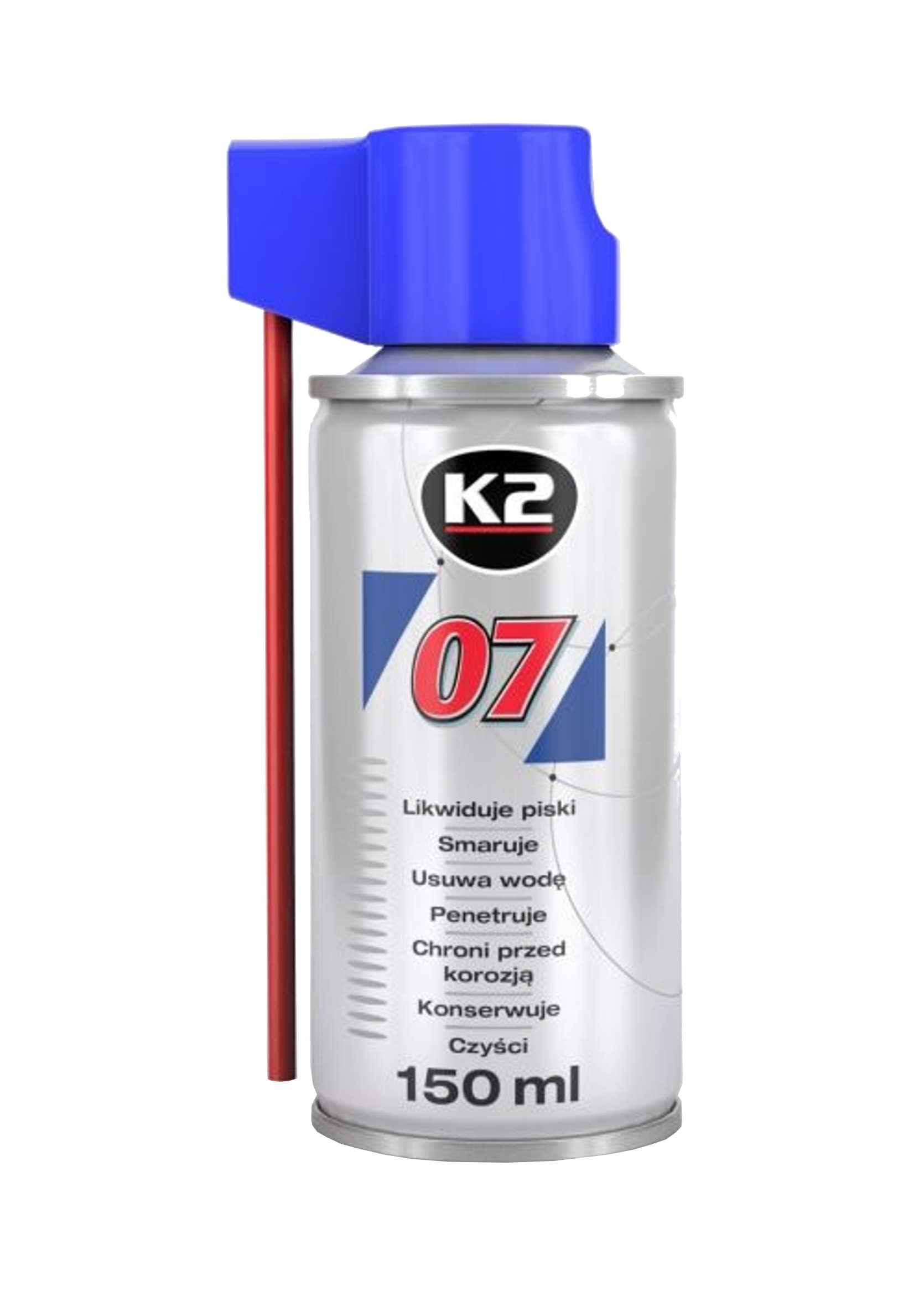 K2 007 150ml Preparat Wielozadaniowy Smar Odrdzewiacz Penetrant