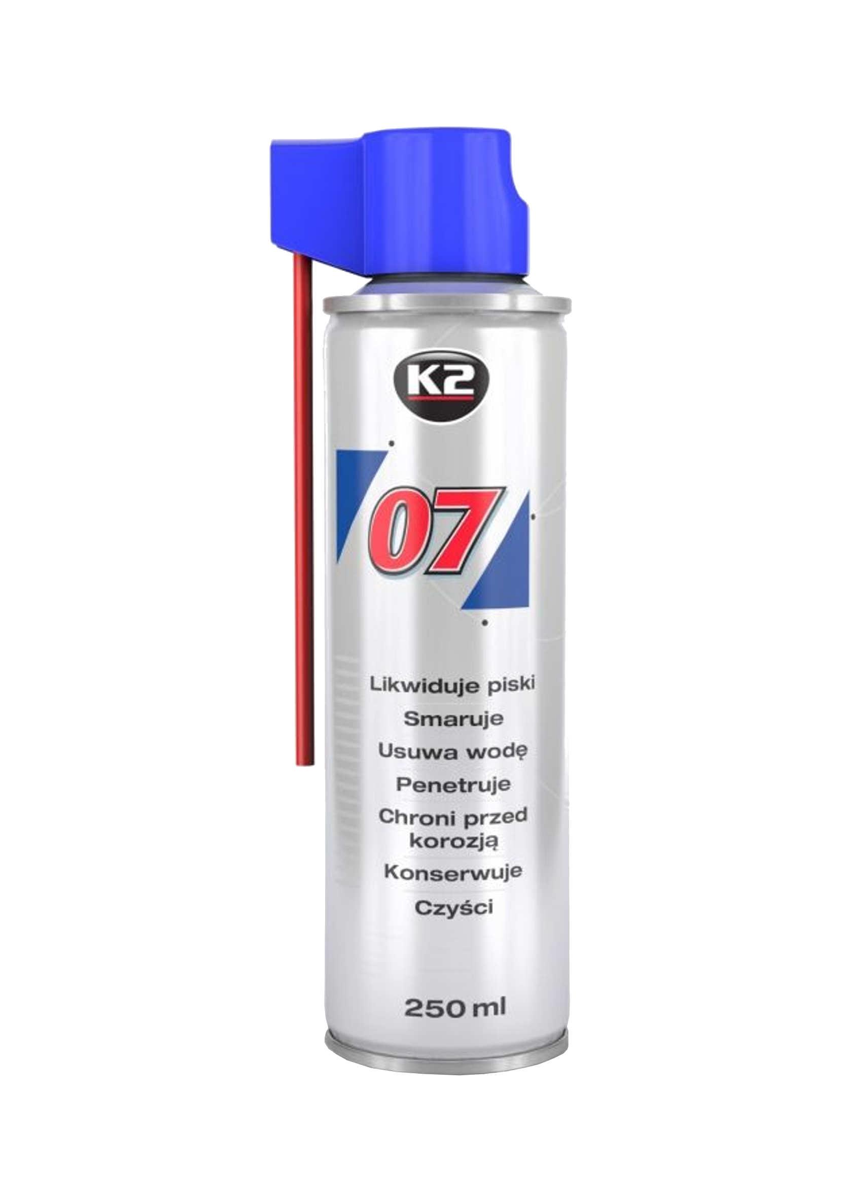 K2 007 250ml Preparat Wielozadaniowy Smar Odrdzewiacz Penetrant