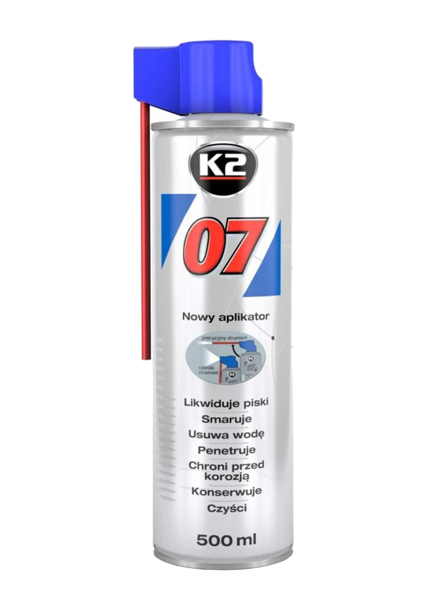 K2 007 500ml Preparat Wielozadaniowy Smar Odrdzewiacz Penetrant