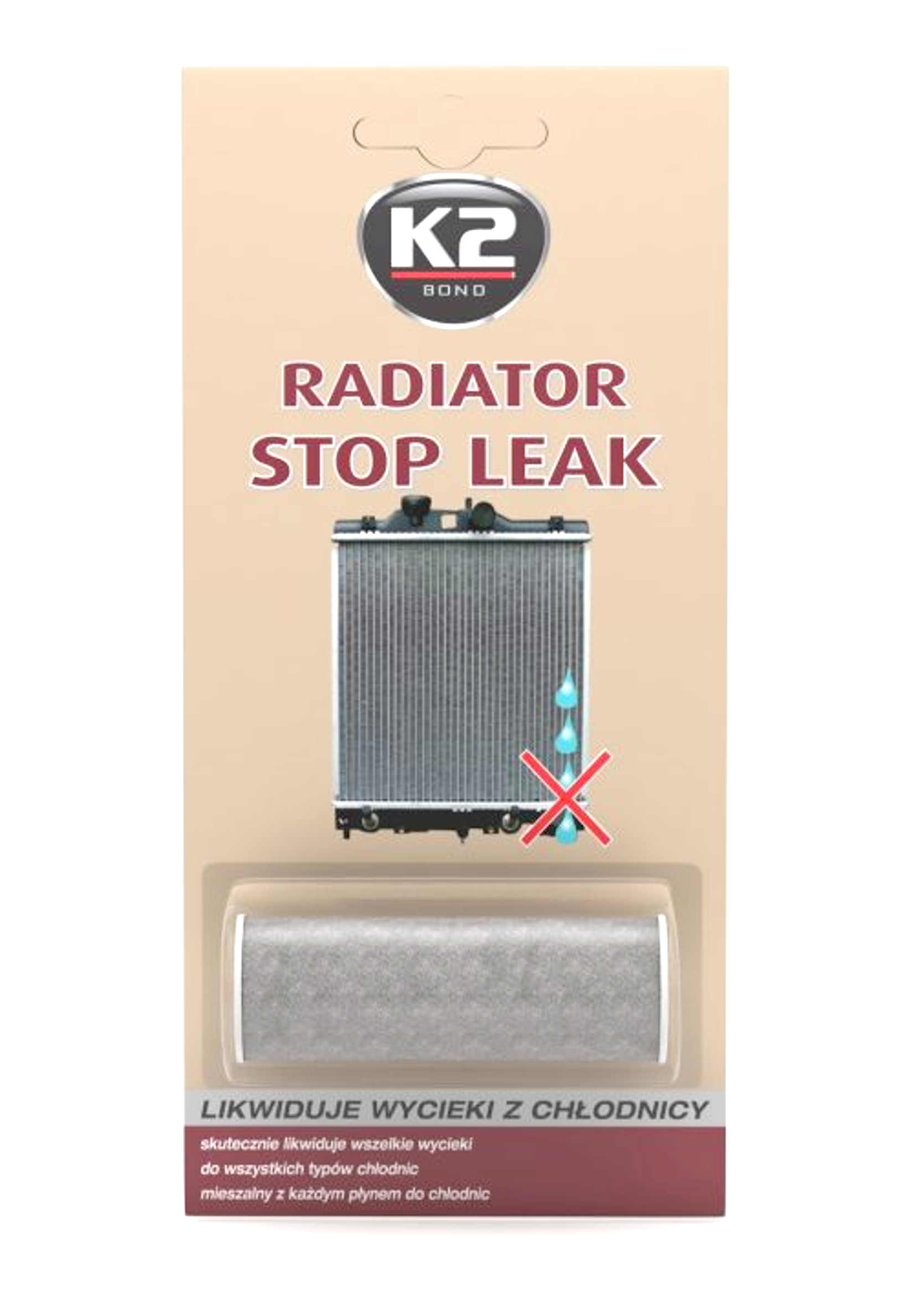K2 Stop Leak 18.5g uszczelniacz do chłodnicy w proszku