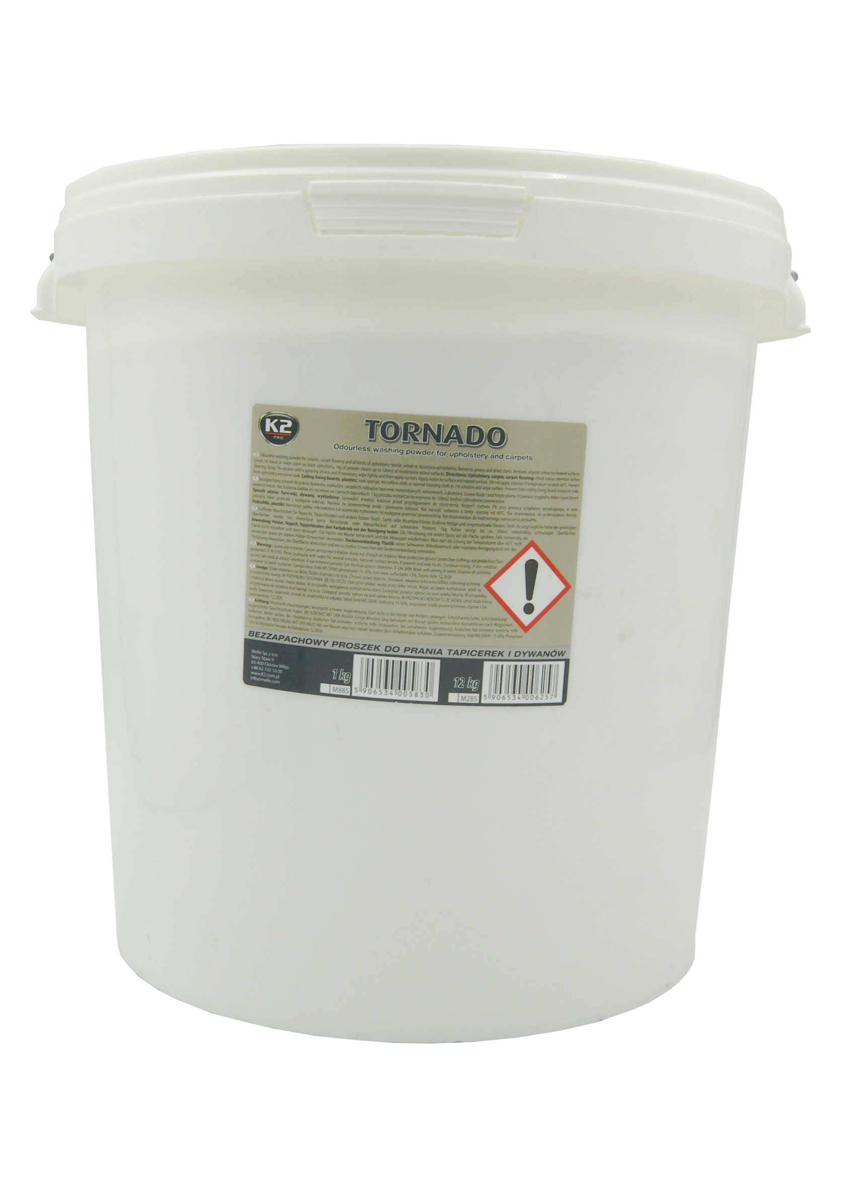K2 Tornado 12 kg Proszek do prania tapicerki i dywanów