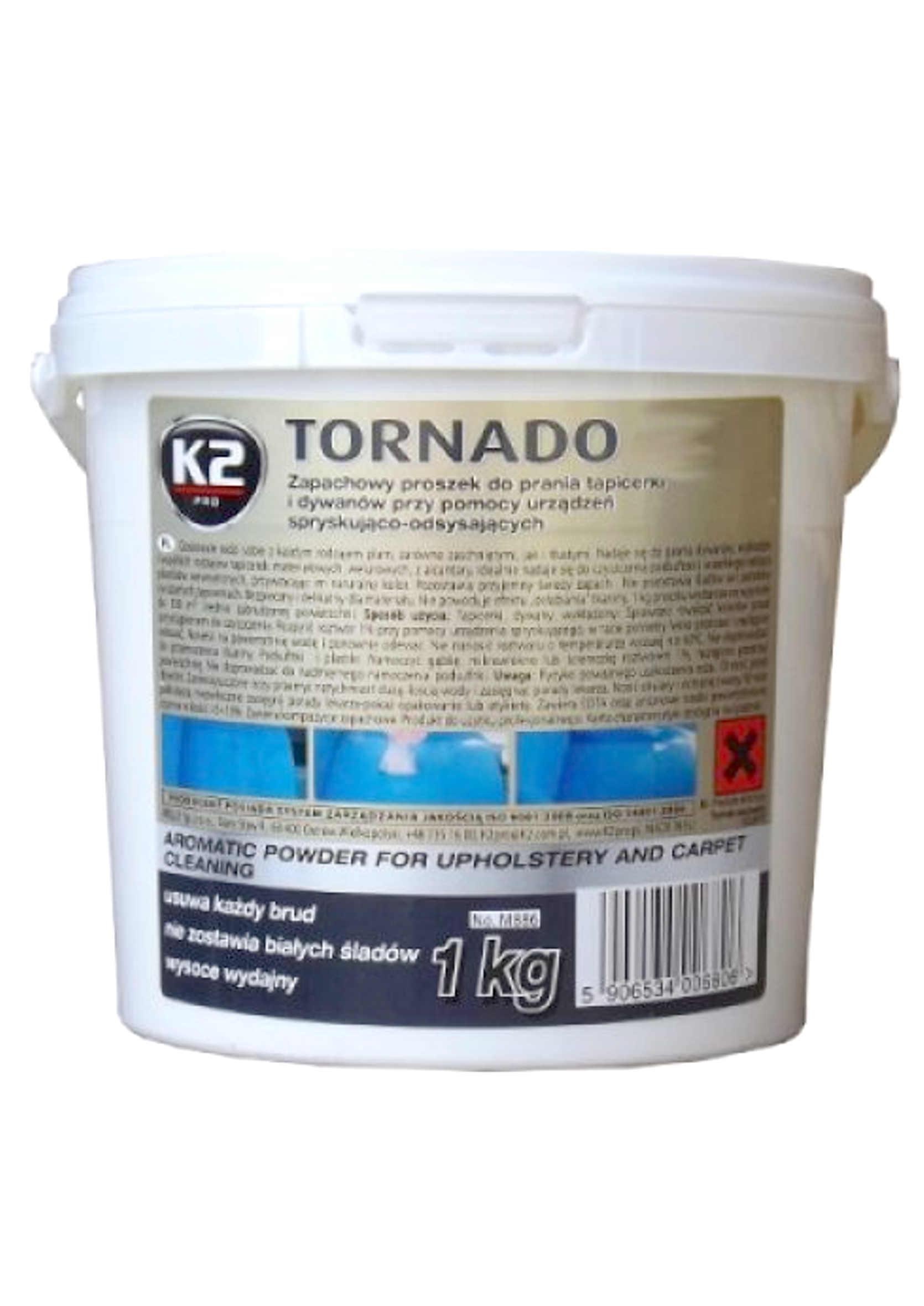K2 Tornado 1 kg Proszek do prania tapicerki i dywanów