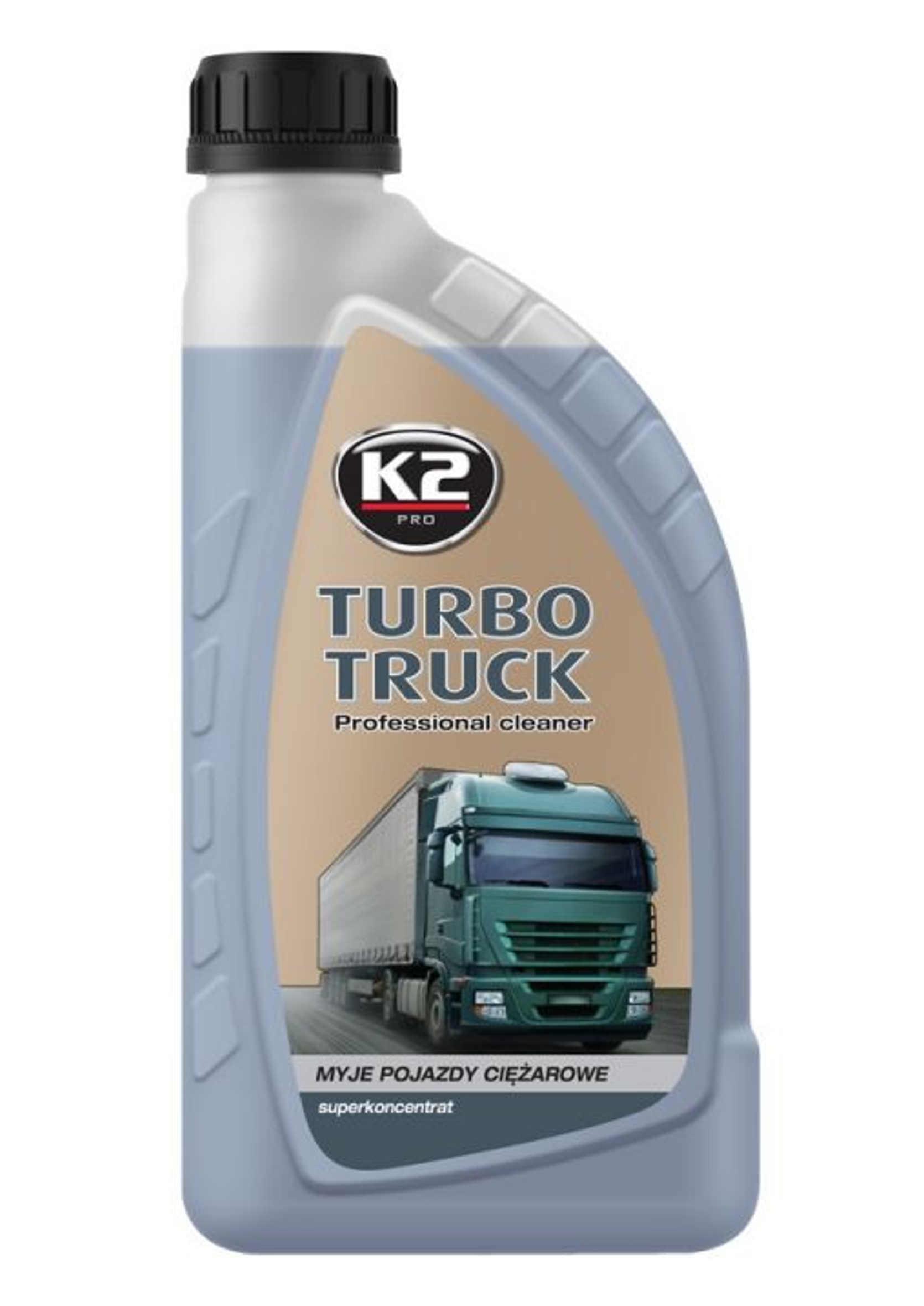 K2 Turbo Truck Cleaner Piana Aktywna do Mycia Ciężarówek i Plandek 1kg