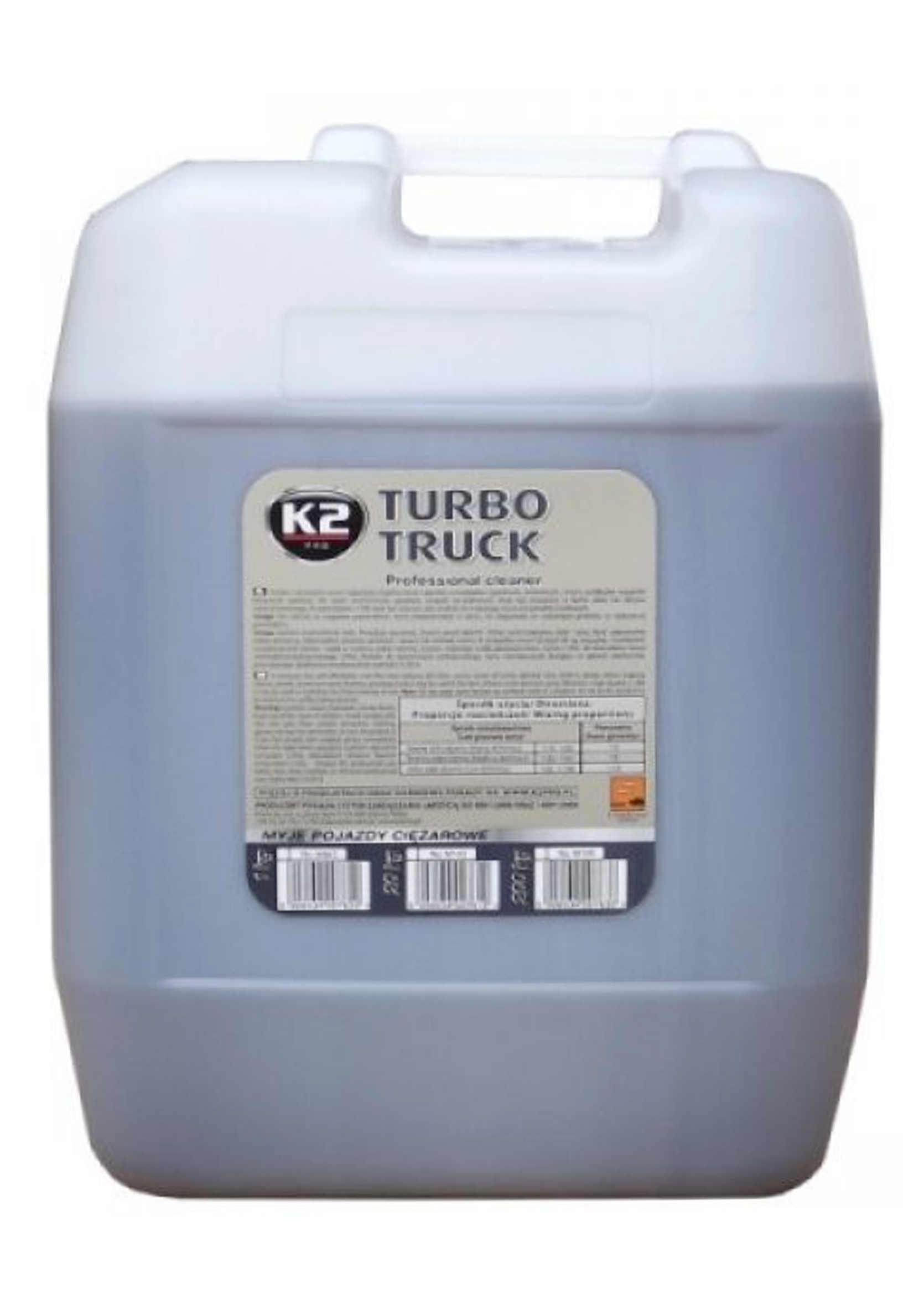 K2 Turbo Truck Cleaner Piana Aktywna do Mycia Ciężarówek i Plandek 25kg