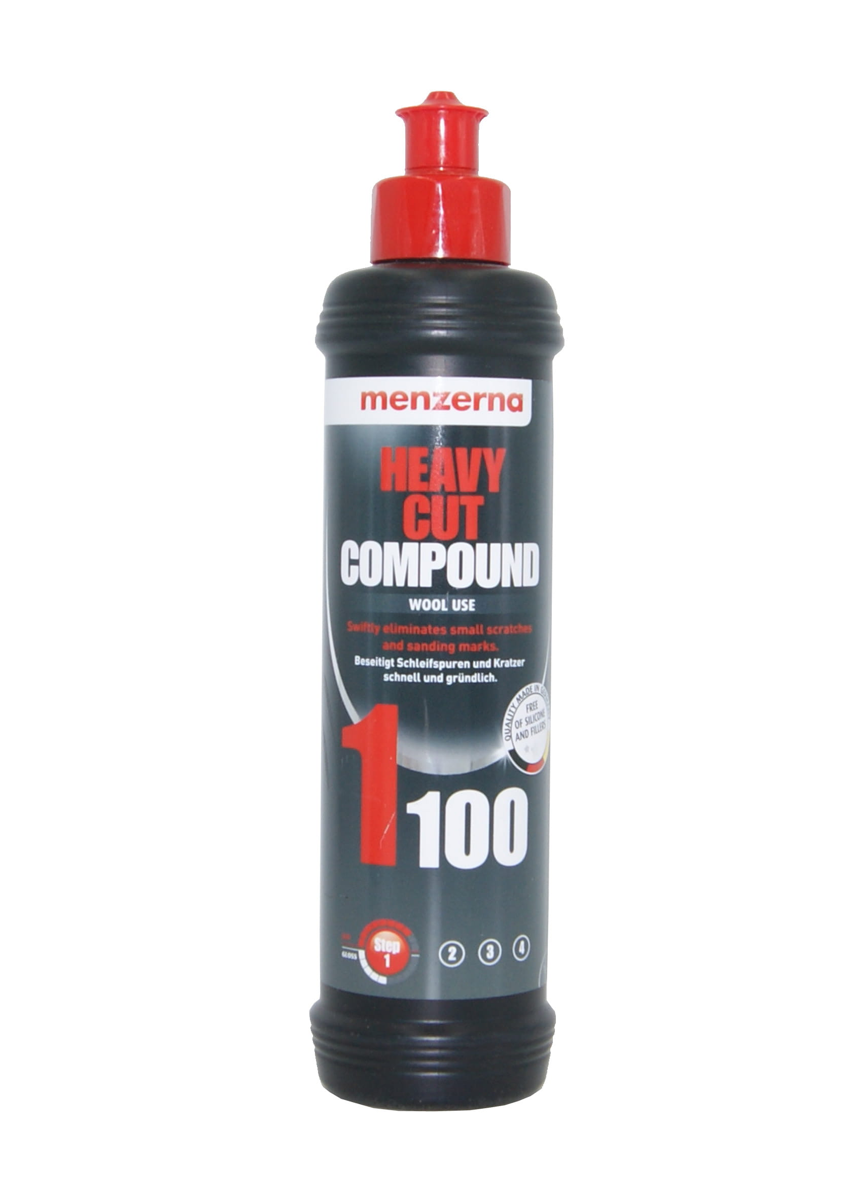 Menzerna 1100 Heavy Cut Compound 250ml Pasta Mocnościerna na Futro Polerskie