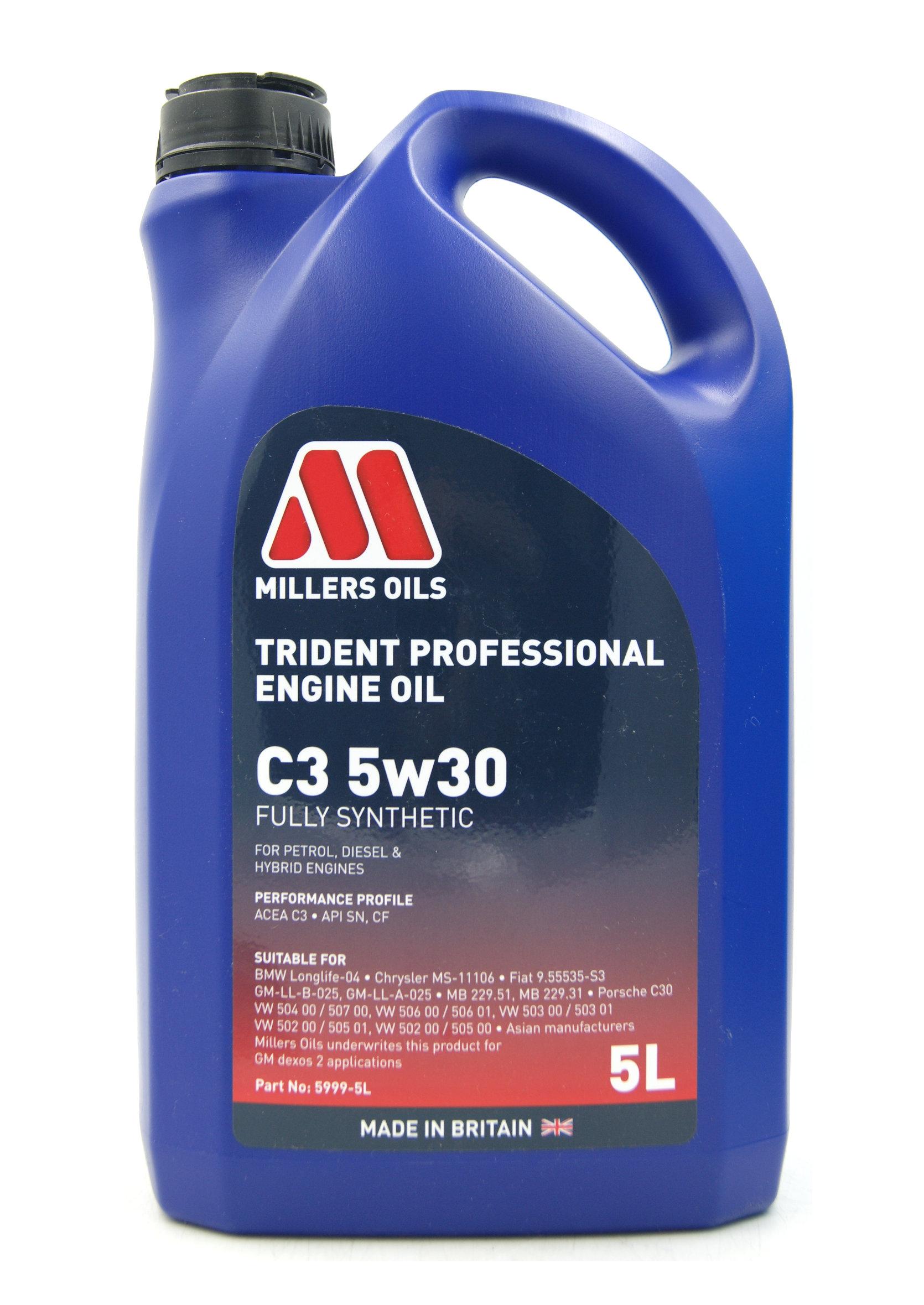 Millers Professional Trident C3 5W30 5L Syntetyczny Olej Silnikowy