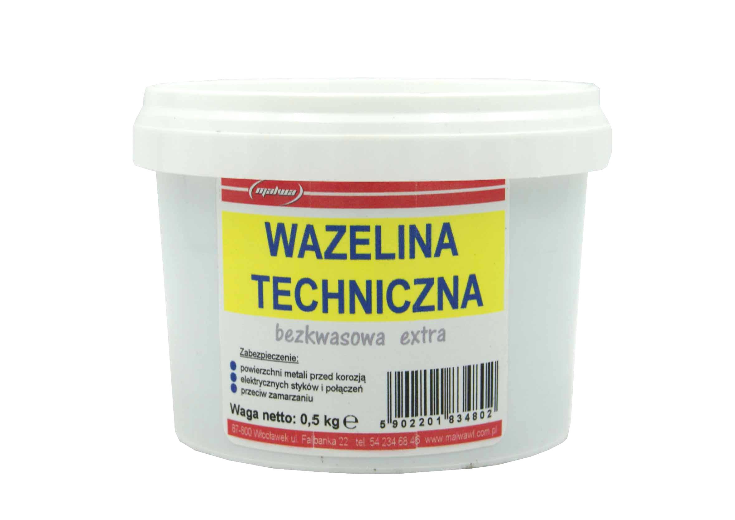 Malwa Wazelina Techniczna Bezkwasowa w puszce 500g
