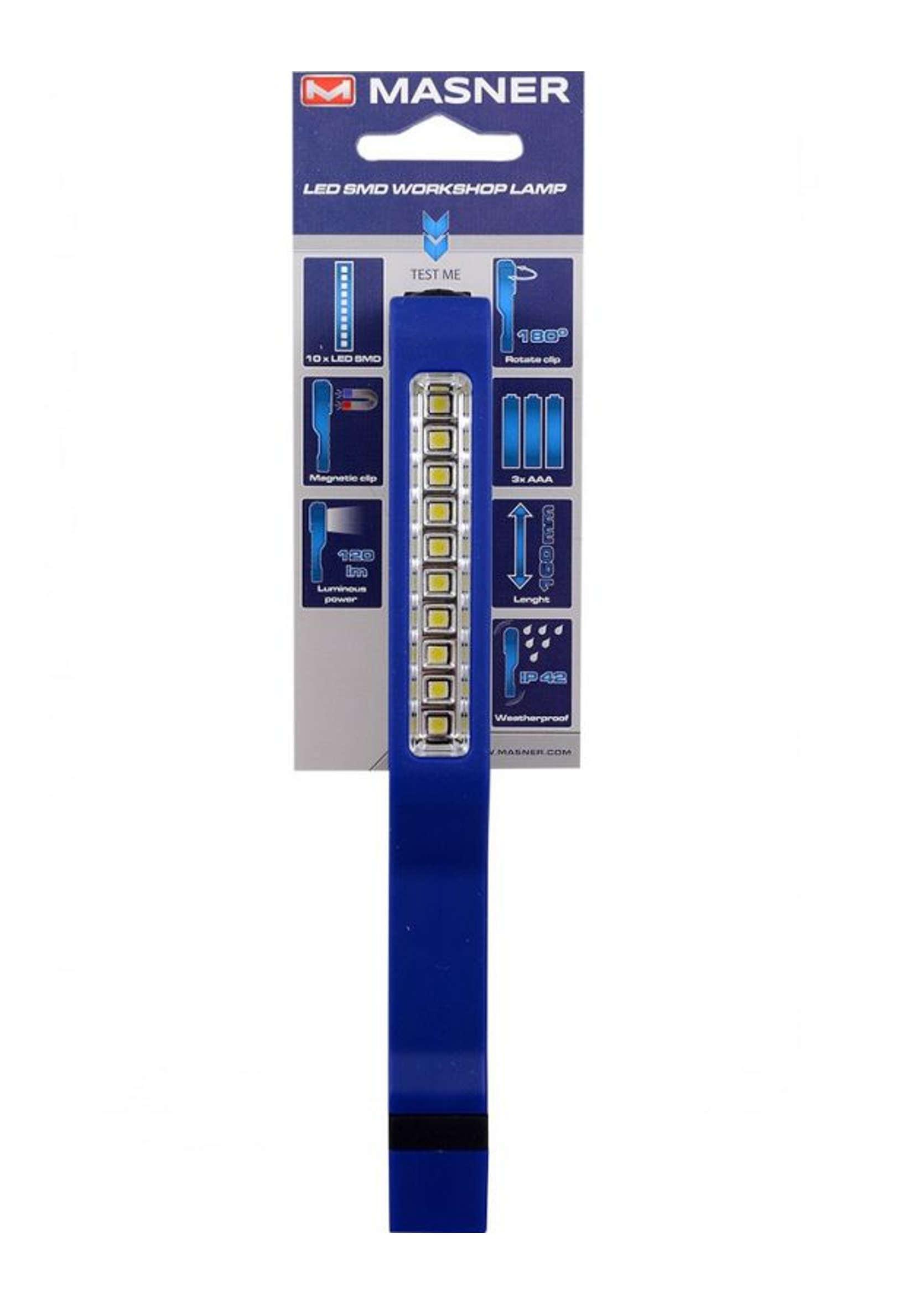 K2 Masner Lampa Inspekcyjna Warsztatowa 10xSMD LED 120lm Latarka z Magnesem i Klipsem