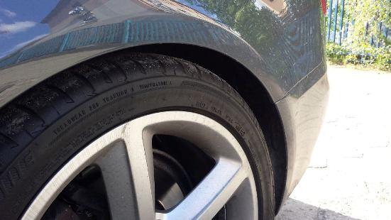 Opona po tygodniu od aplikacji Meg's Endurance Tire Gel'a