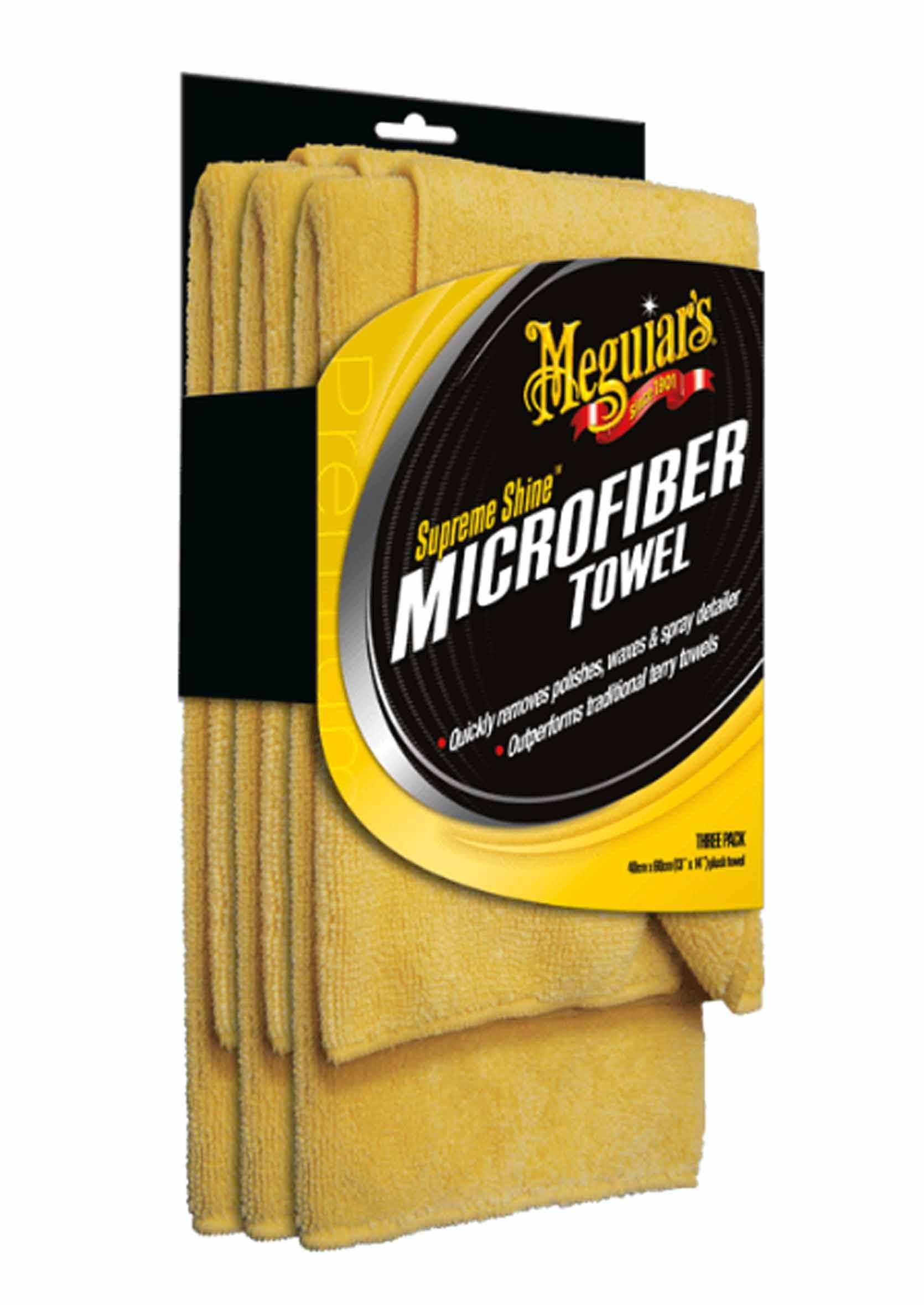 Mikrofibra do Czyszczenia i Polerowania Meguiars Supreme Shine 60x40cm 3 szt.