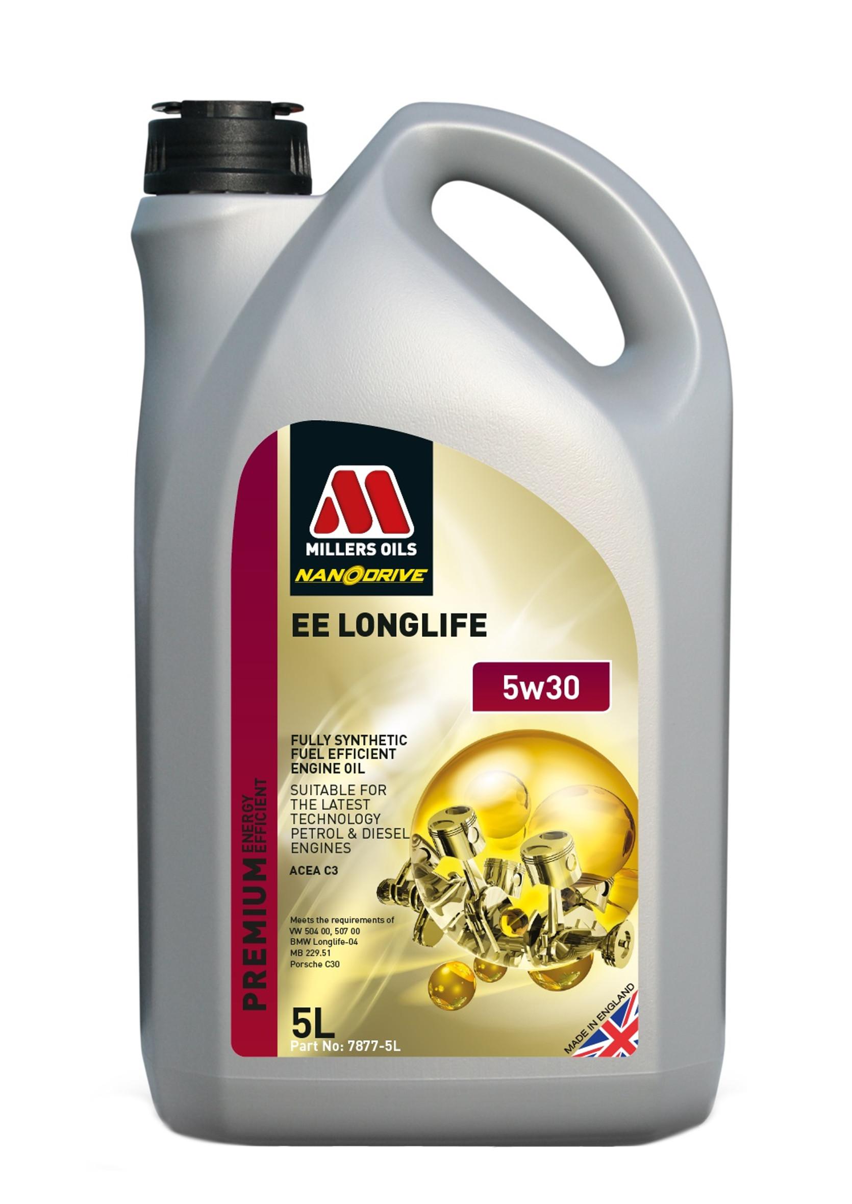 Millers Premium EE Long Life 5W30 5L Olej Silnikowy Syntetyczny