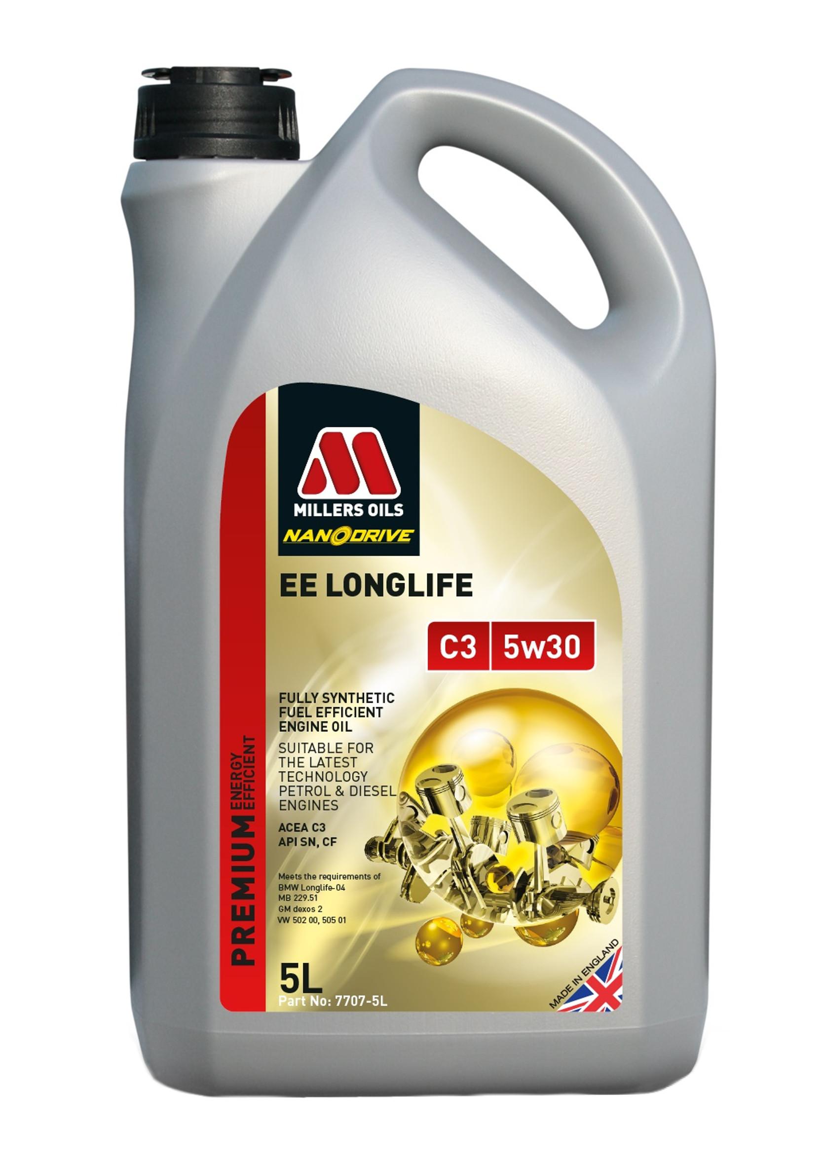 Millers Premium EE Long Life C3 5W30 5L Olej Silnikowy Syntetyczny