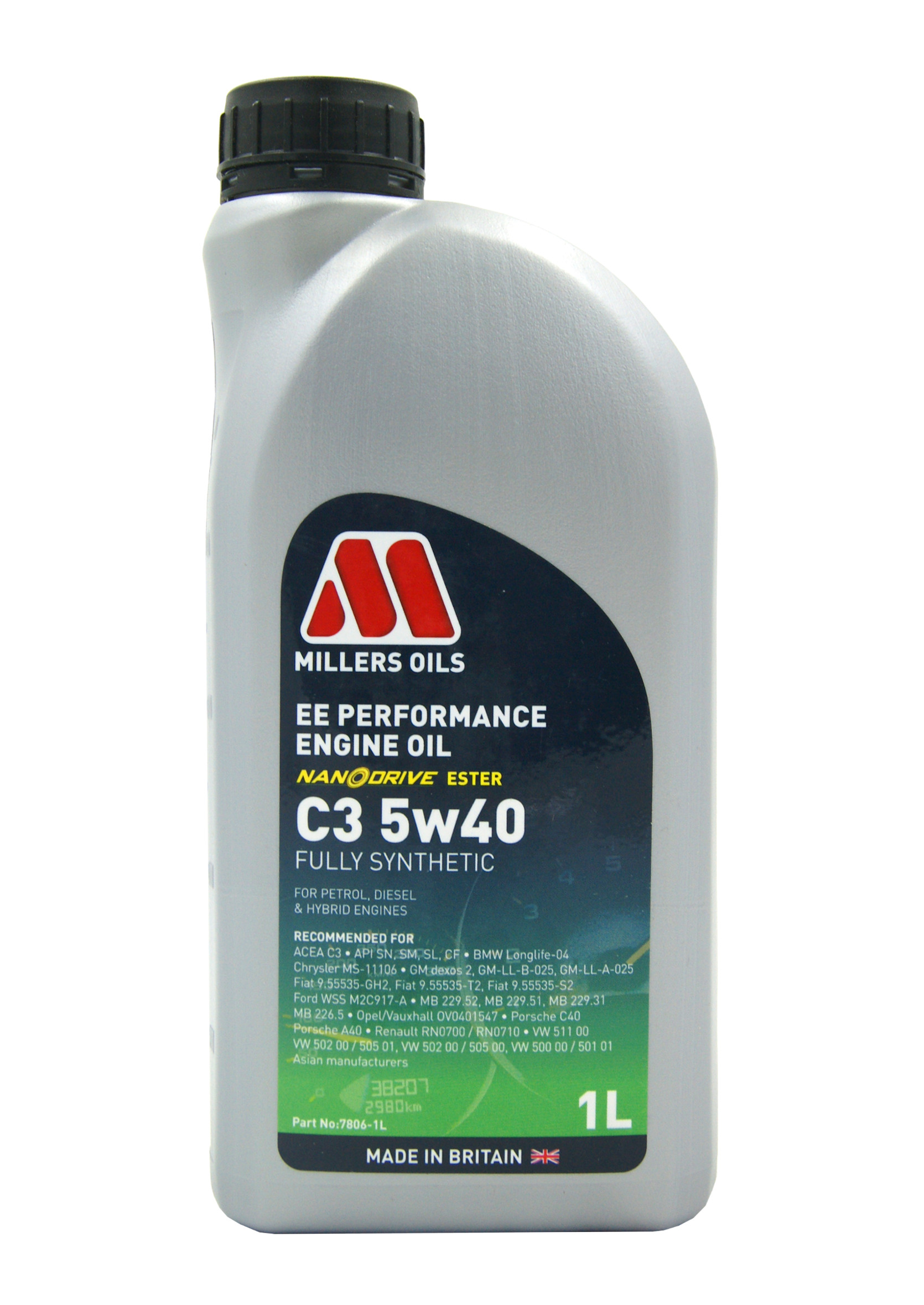 Millers EE Performance 5W40 C3 1L Olej Silnikowy Syntetyczny