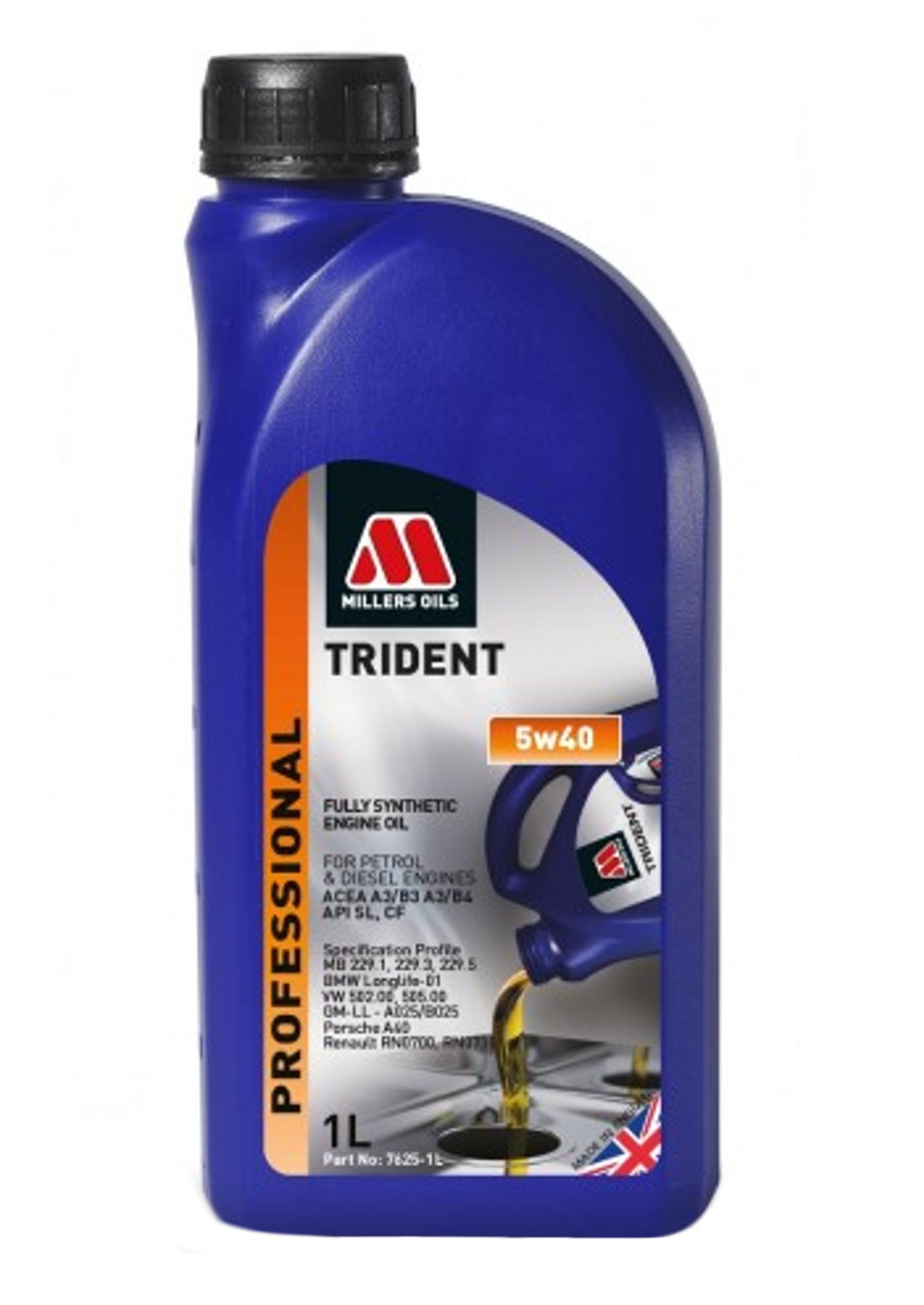 Millers Professional Trident 5W40 1L Olej Silnikowy Syntetyczny