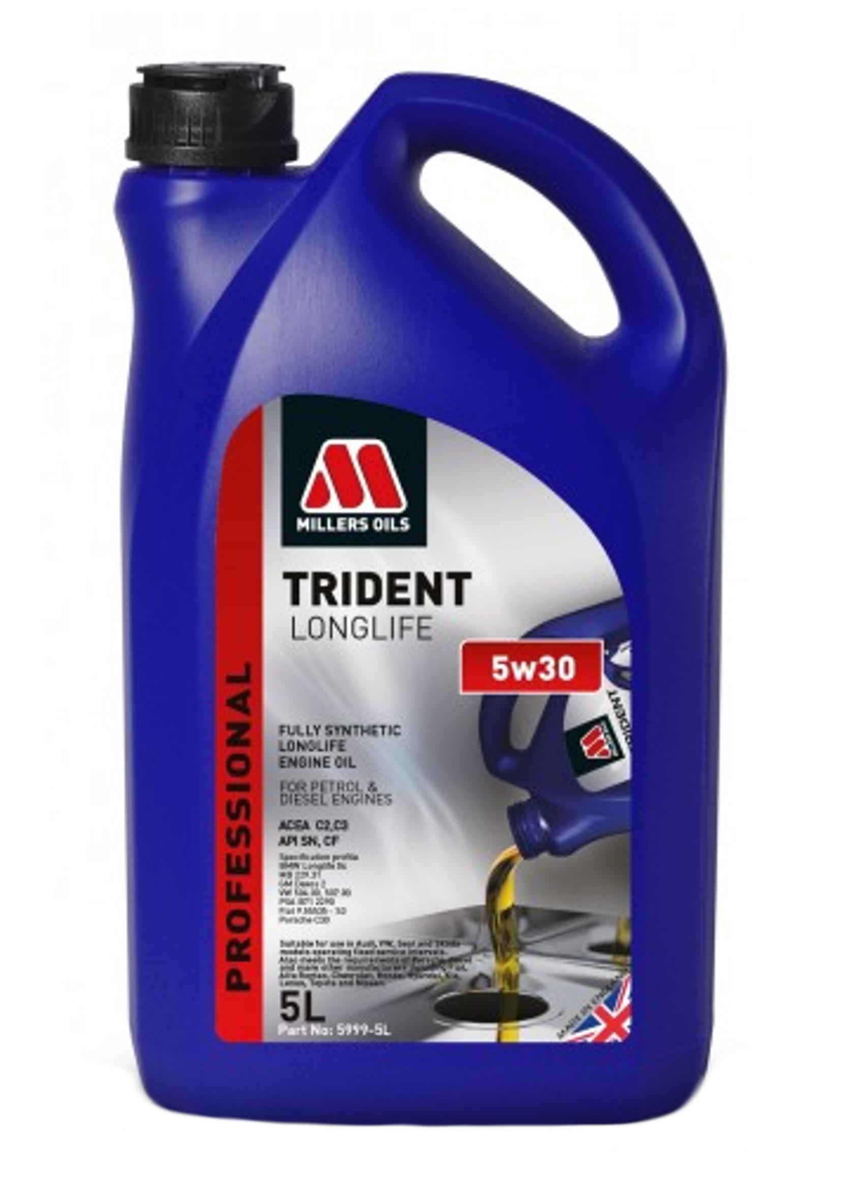 Millers Trident Long Life 5W30 5L Olej Silnikowy Syntetyczny