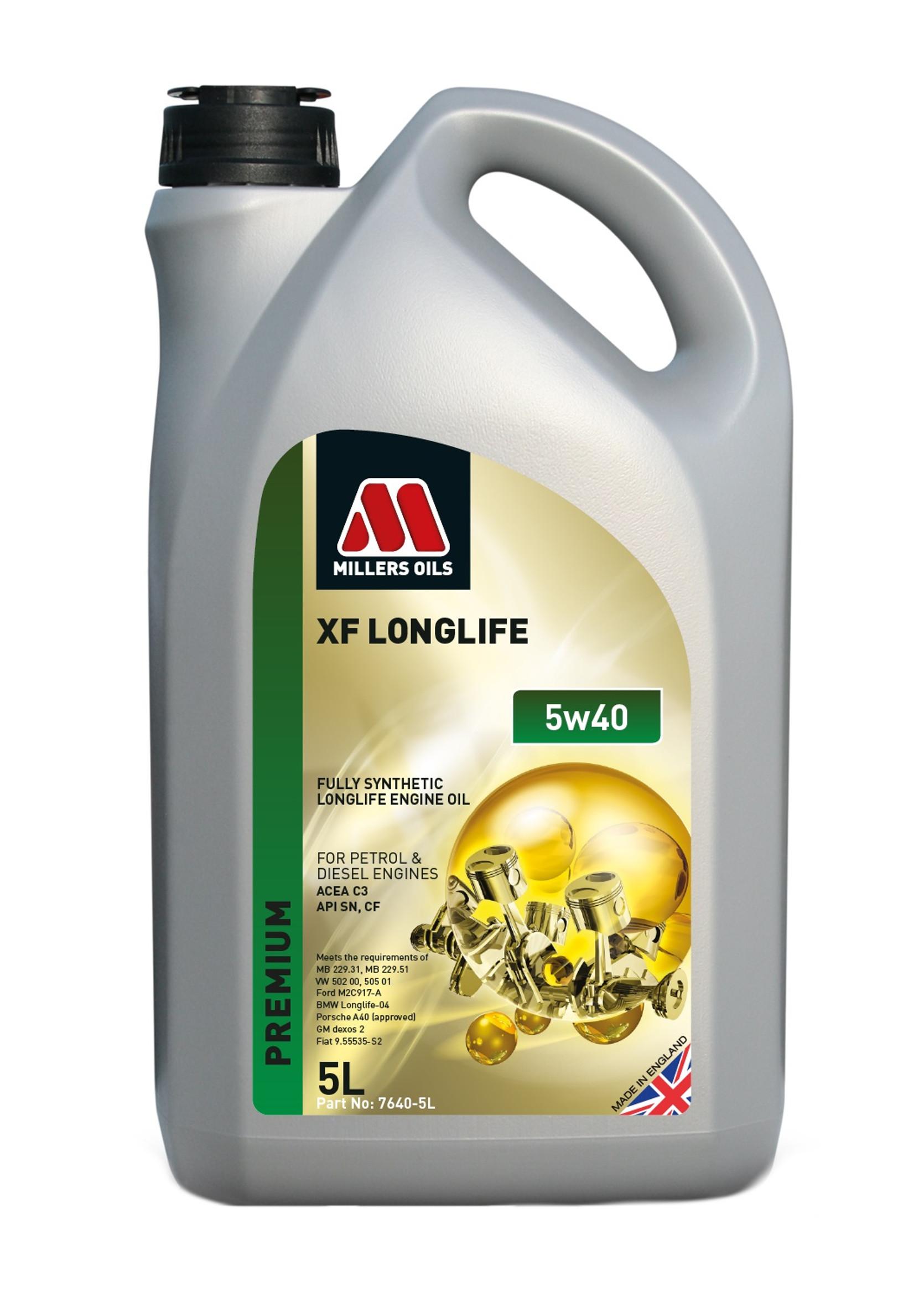 Millers XF Long Life 5W40 5L Olej Syntetyczny