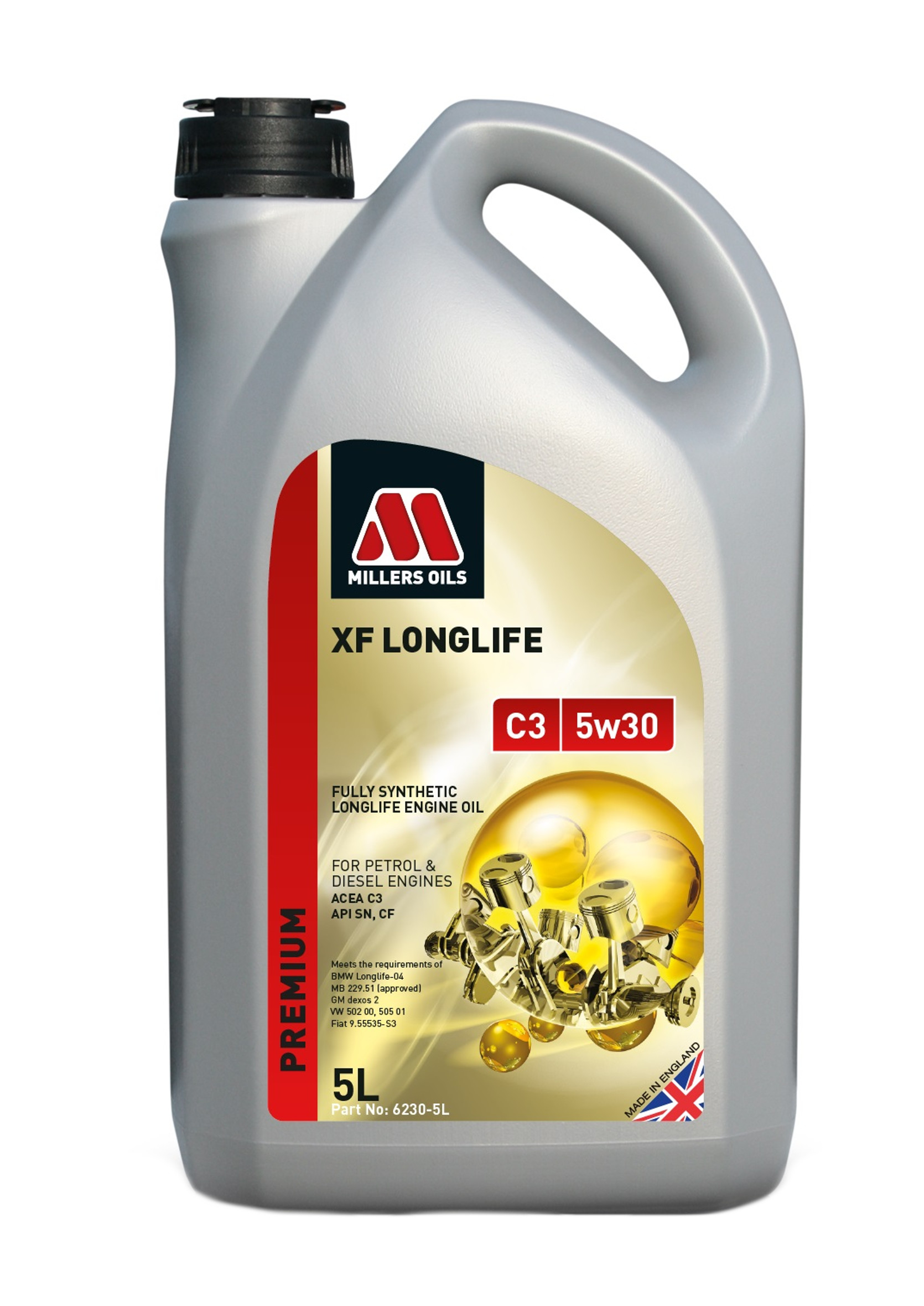 Millers Premium XF Long Life C3 5W30 5L Olej Silnikowy Syntetyczny