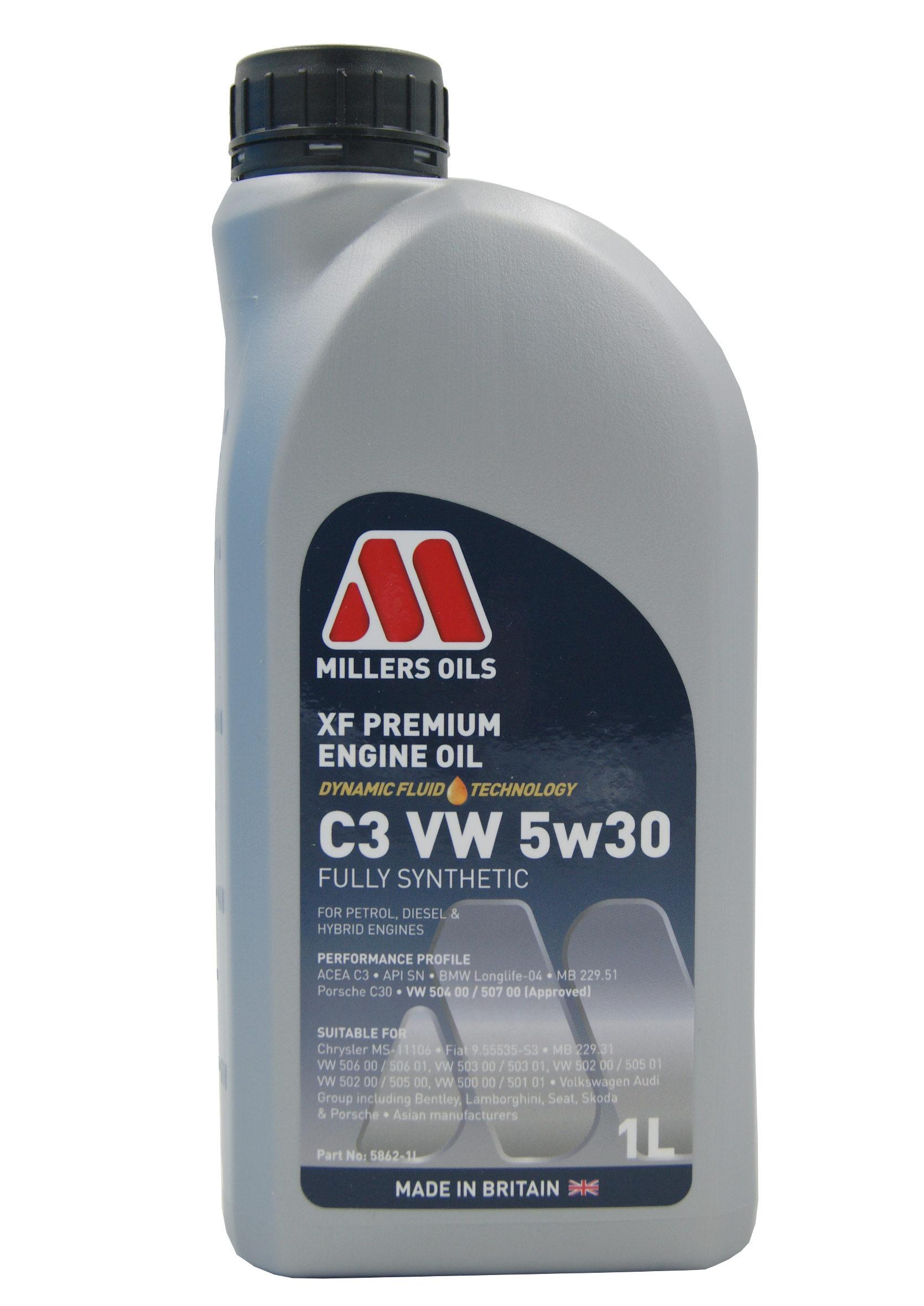 Millers XF Premium 5W30 1L C3 VW Olej Silnikowy Syntetyczny