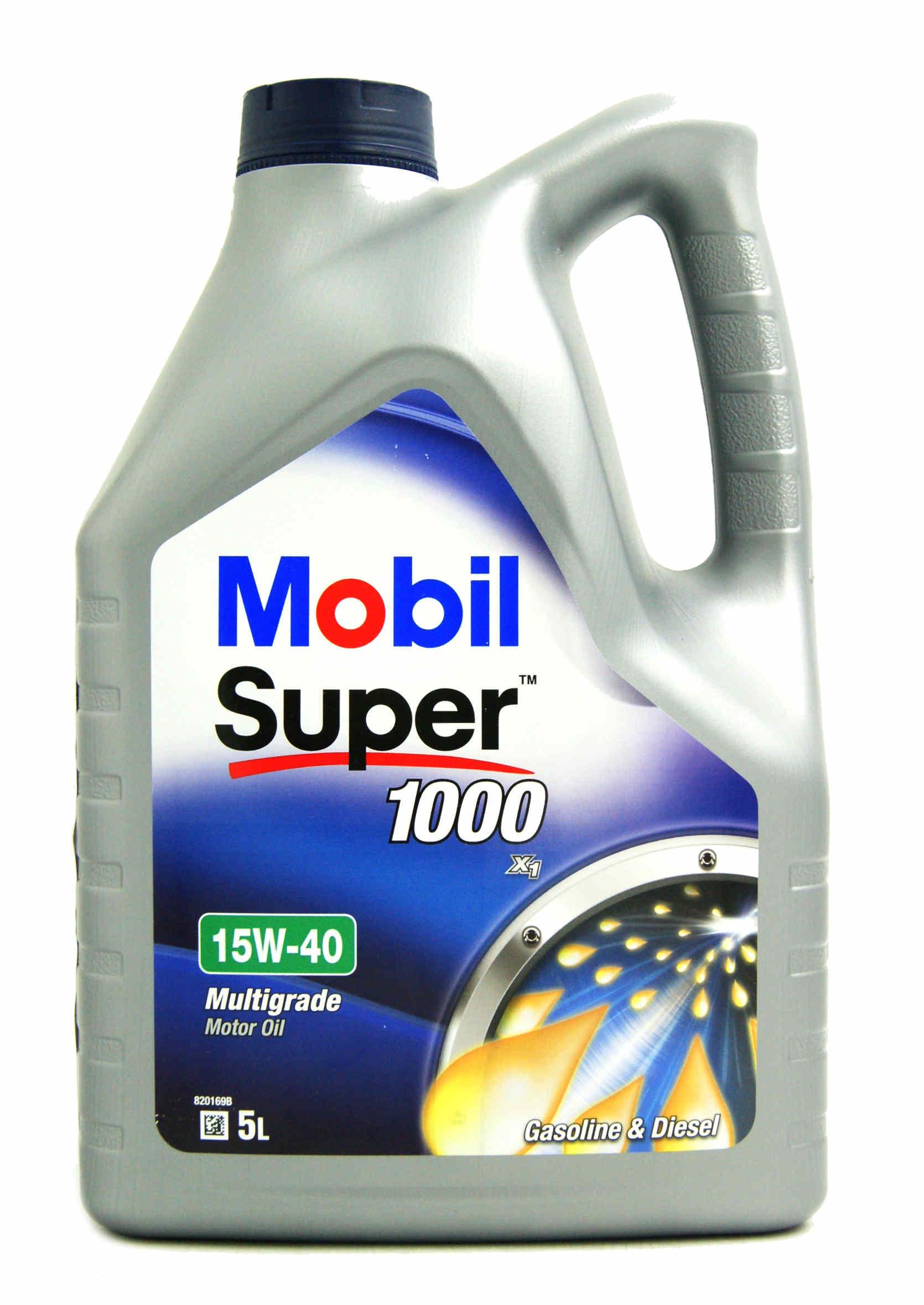 Mobil Super 1000 X1 15W40 5L Olej Silnikowy Mineralny