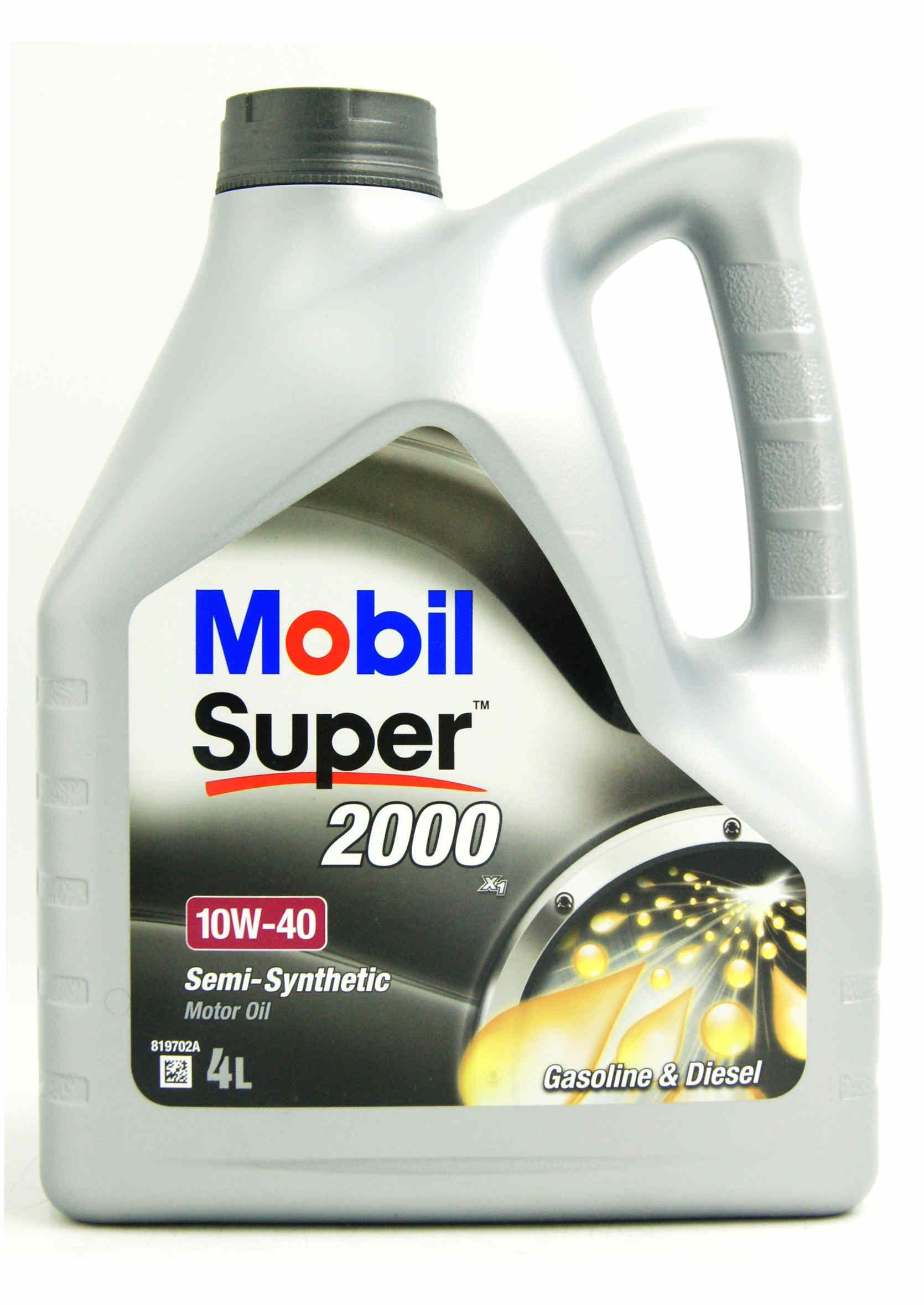 Mobil 1 Super 2000 X1 10W40 4L Olej Silnikowy Półsyntetyczny