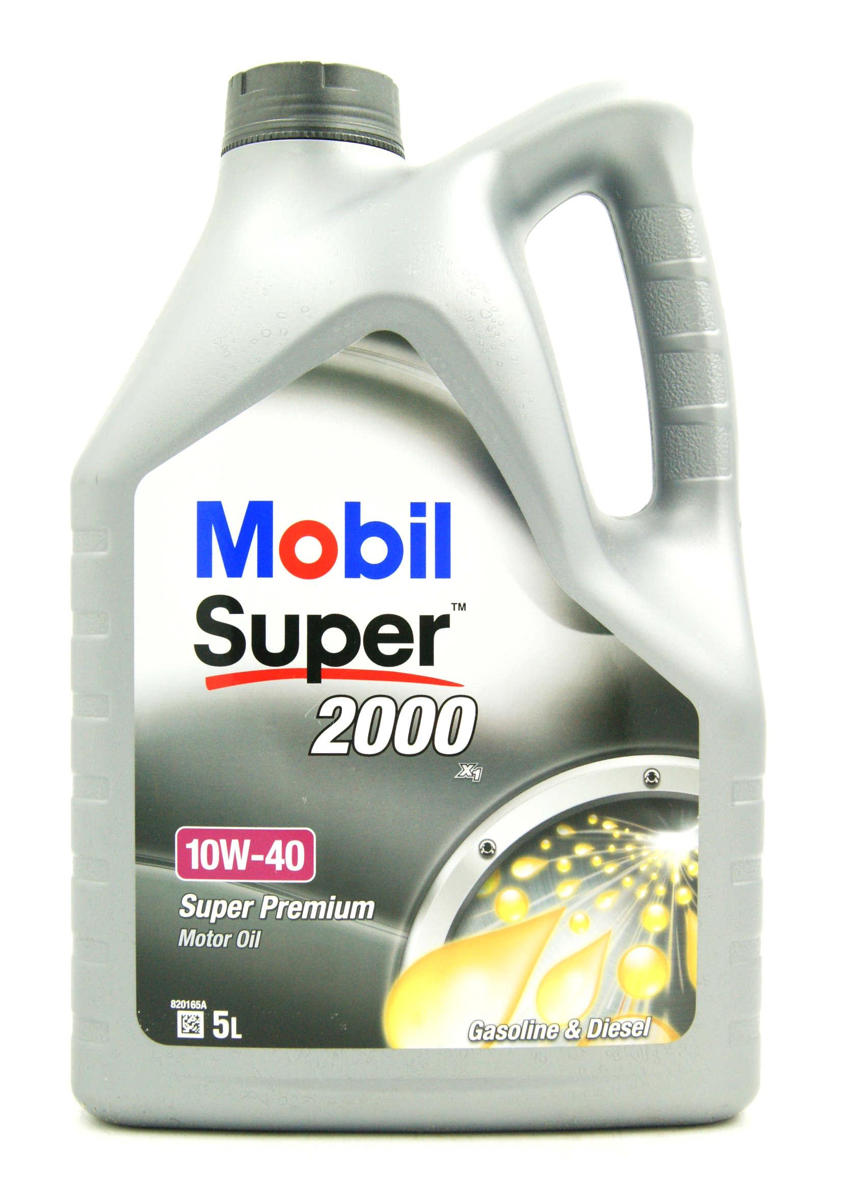 Mobil Super 2000 X1 10W40 5 L Półsyntetyczny Olej Silnikow