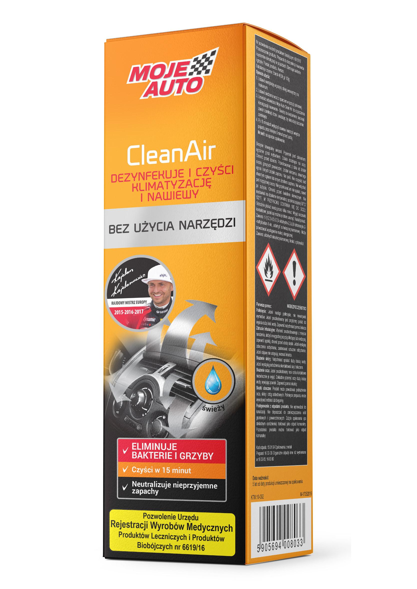 Moje Auto Clean Air Fresh 150ml do Czyszczenia i Dezynfekcji Nawiewów i Klimatyzacji